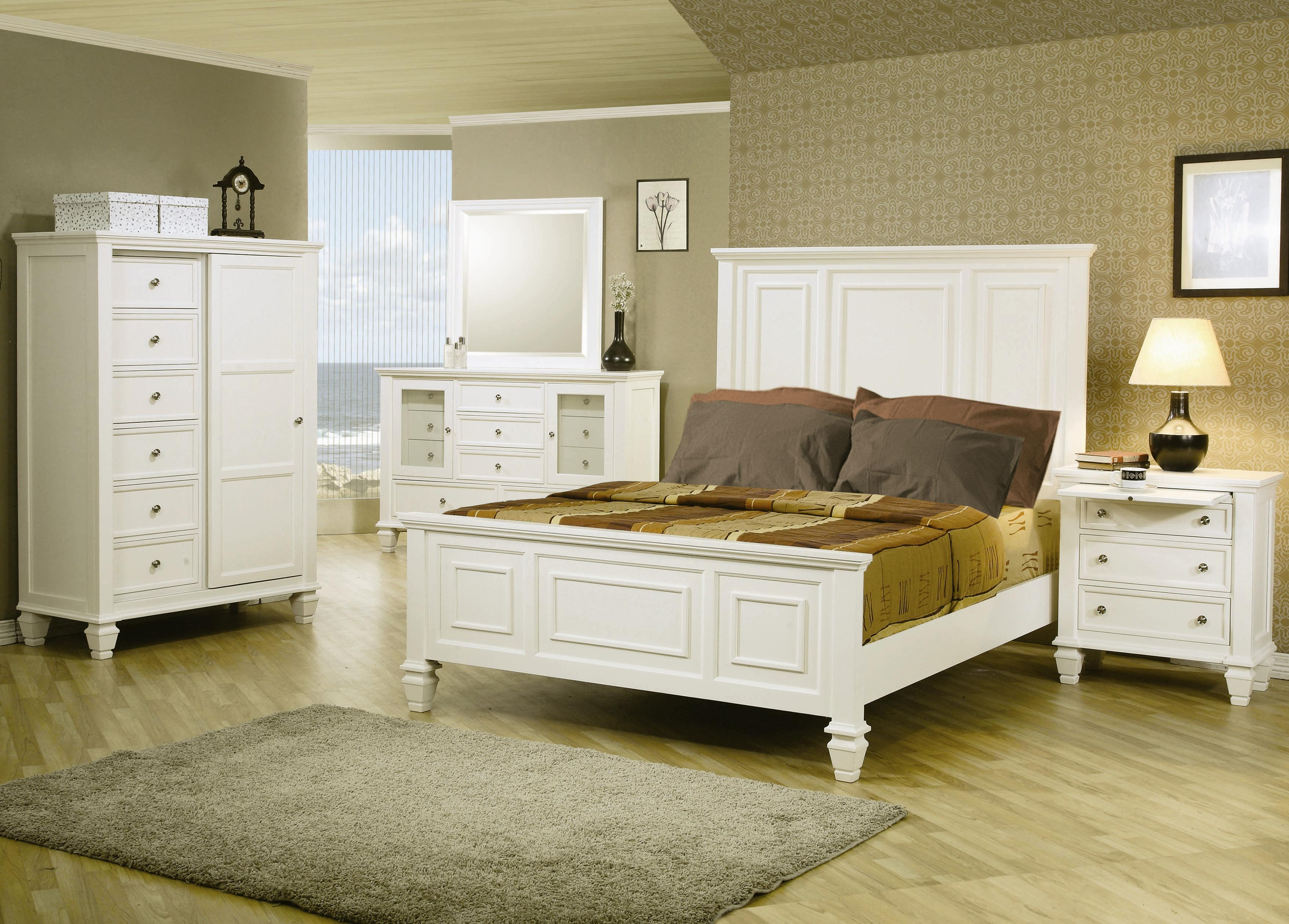 Coaster Sandy Beach Classic Queen High Headboard Bed Coaster - Big sandy bedroom furniture