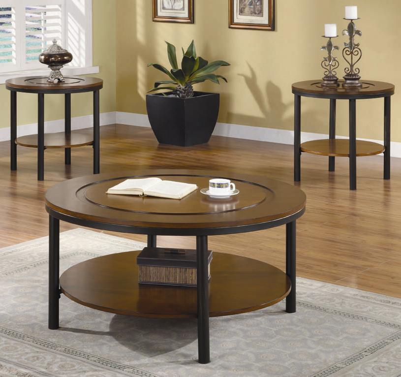 Coaster Occasional Table Sets 3-Piece Contemporary Round Coffee ...
