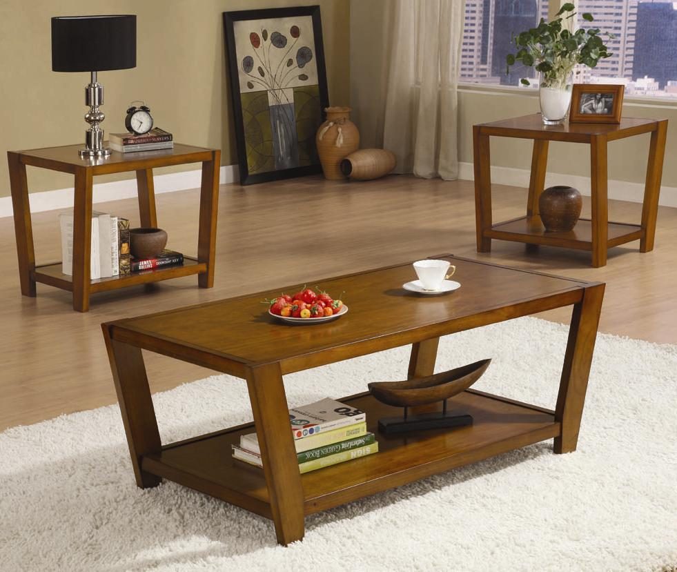 coaster occasional table sets 3piece round coffee u0026 end table set coaster fine furniture