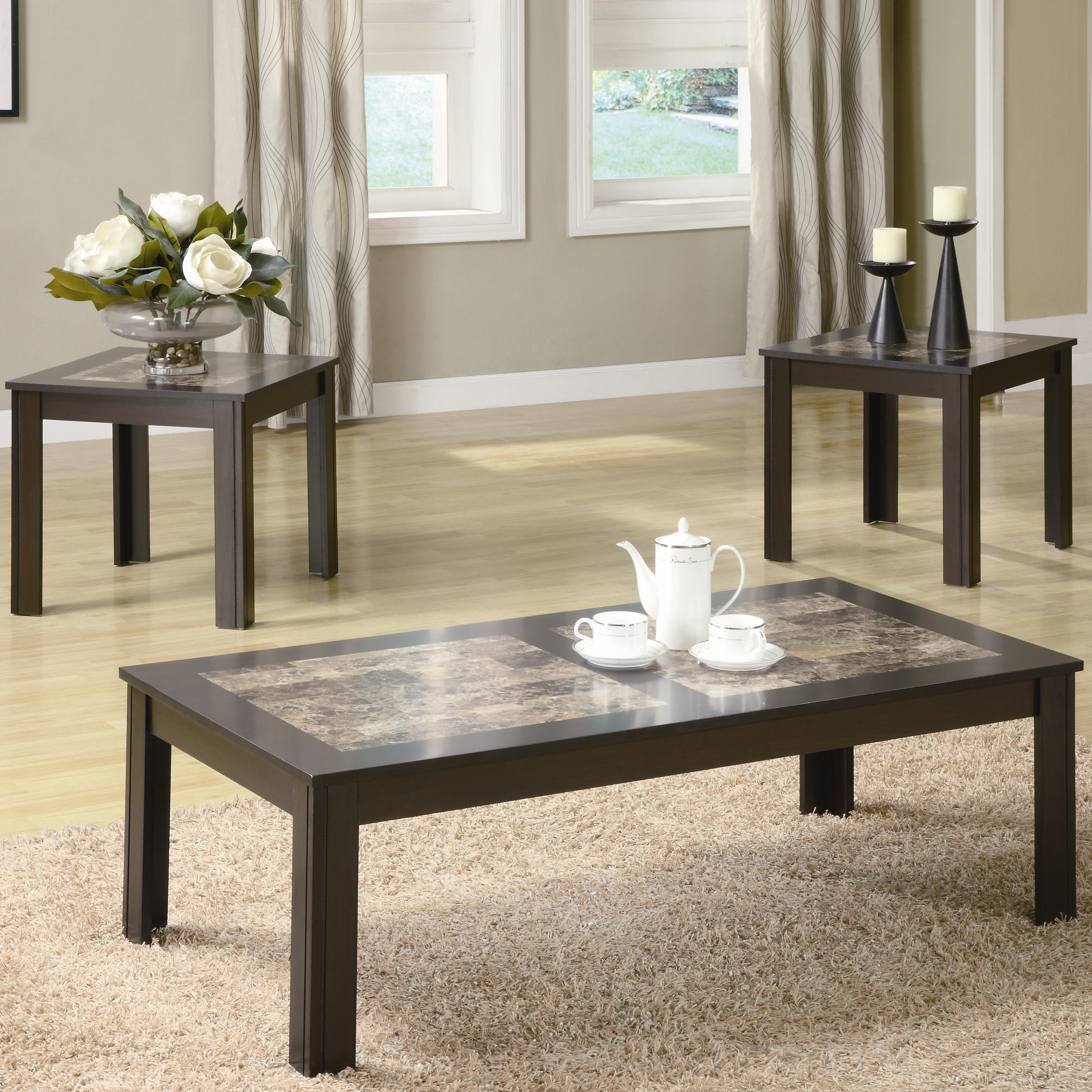 coaster occasional table sets modern coffee table and end table set coaster fine furniture - Modern Coffee Table Sets