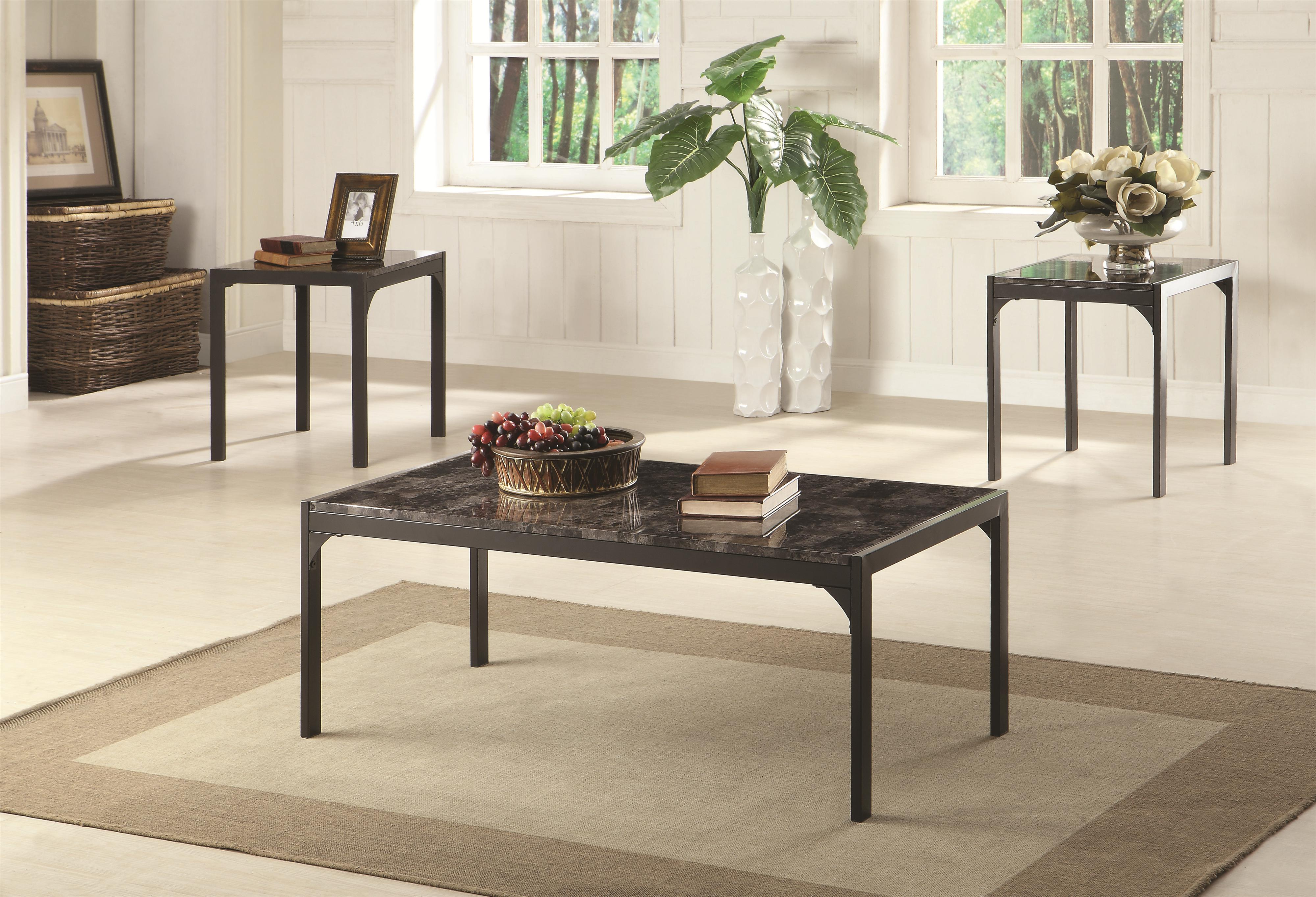 Coaster Occasional Table Sets Modern Coffee Table and End Table Set ...