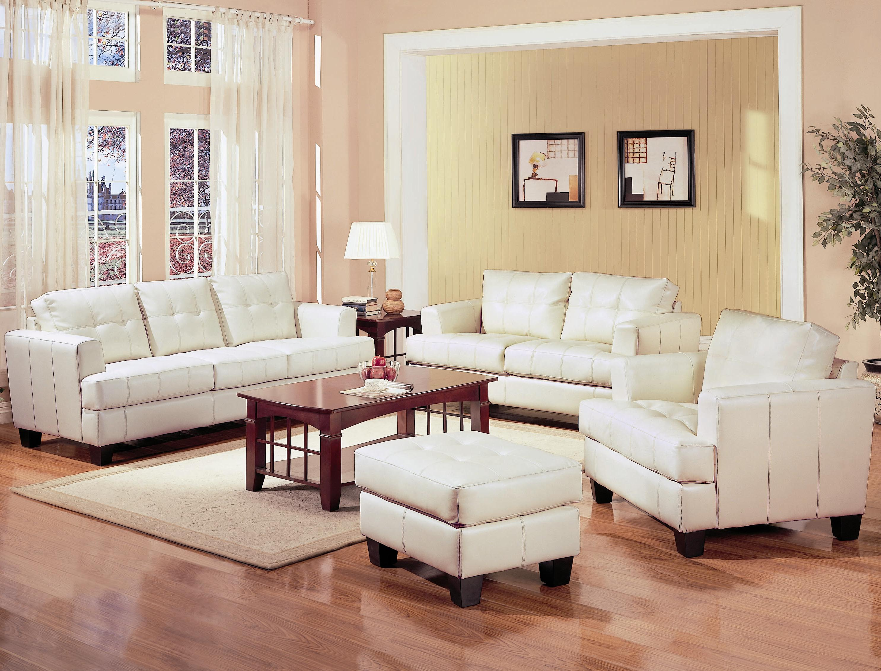 White Leather Living Room Chair Living Room