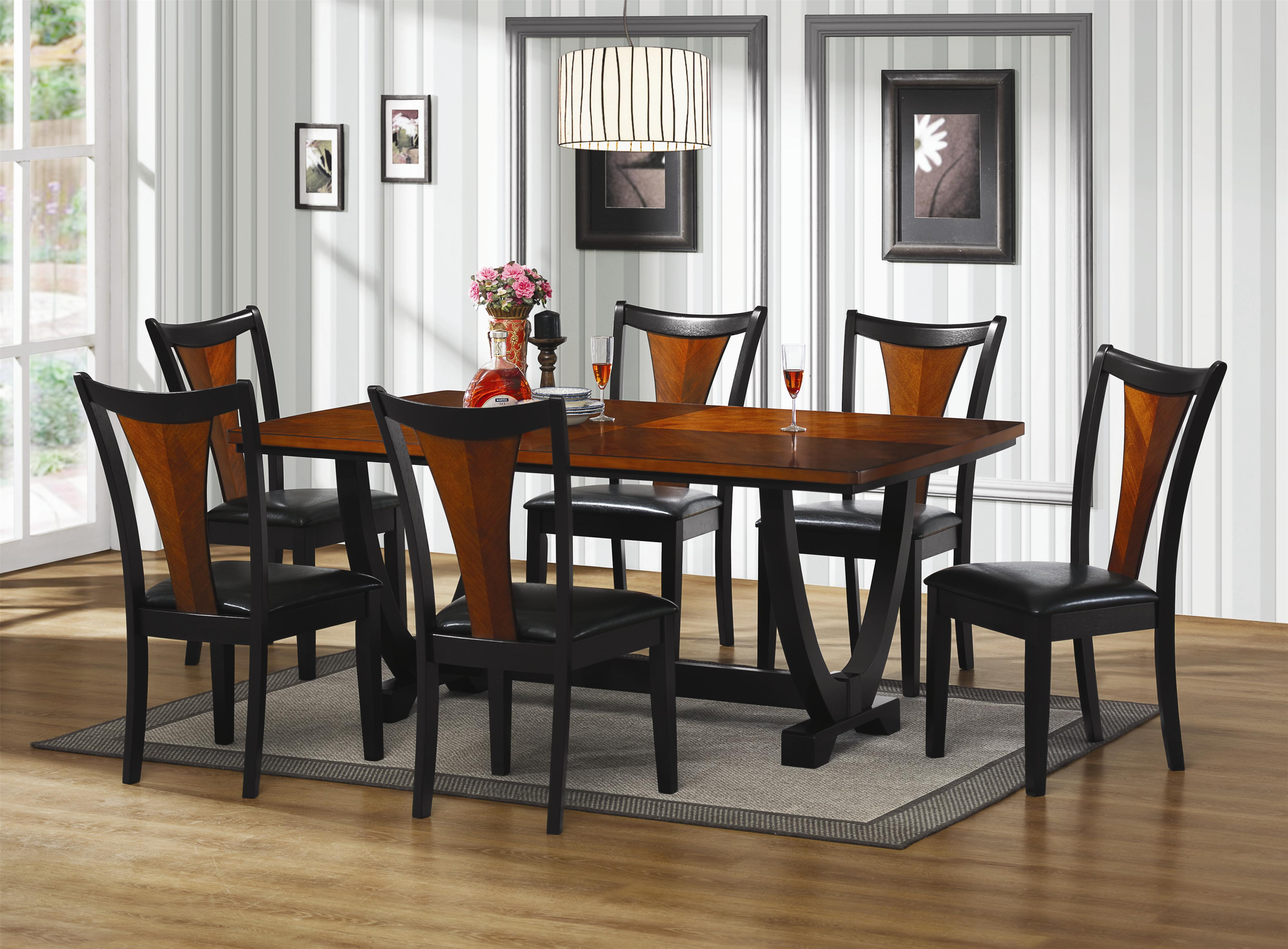 Black Wood Dining Table Modrest Santiago Modern Rectangular Wood