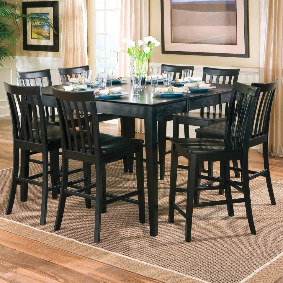 coaster pines counter height dining leg table with leaf coaster fine furniture - Height Of Dining Room Table