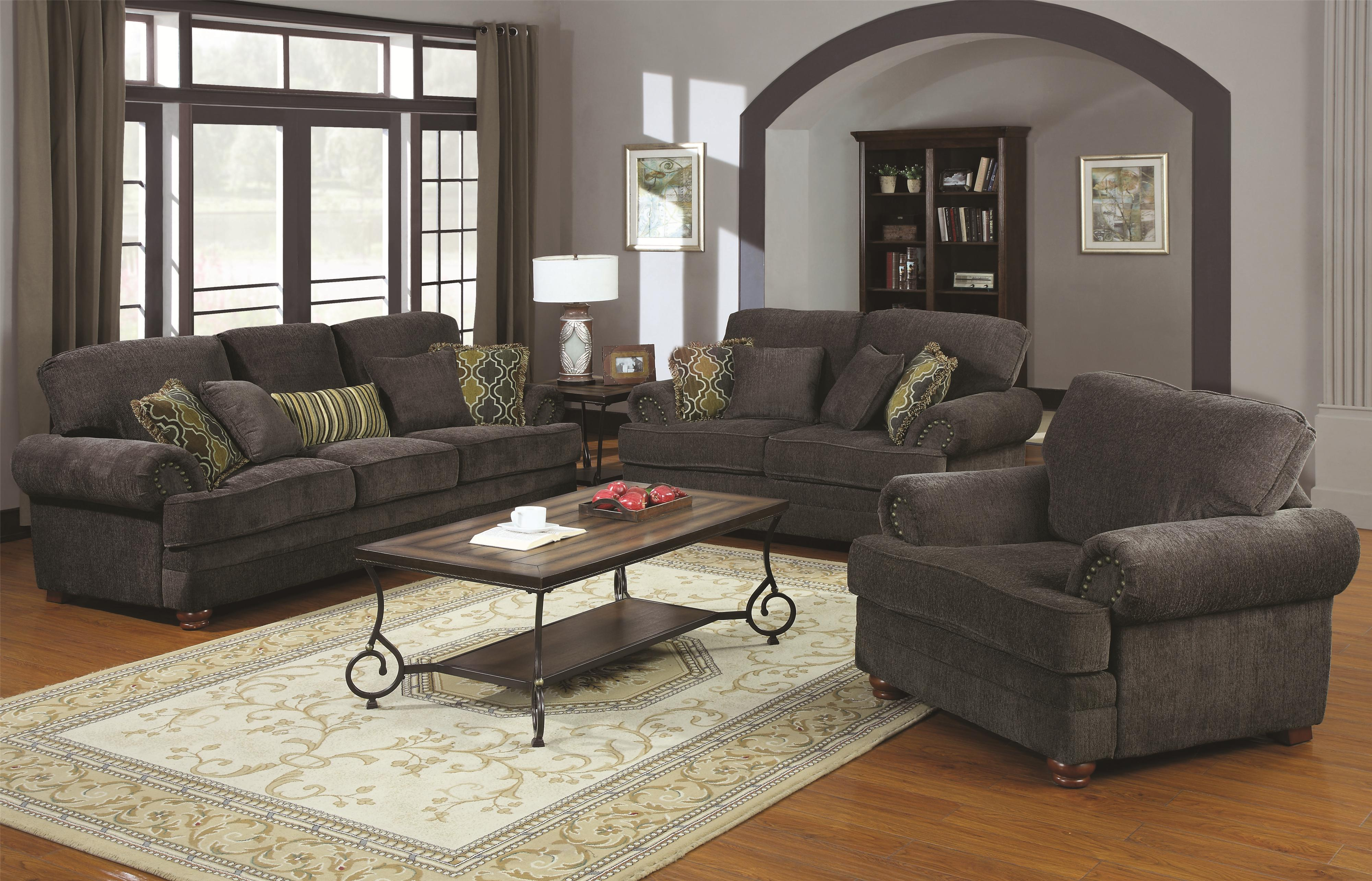 Traditional Chairs For Living Room Coaster Colton Traditional Sofa With Elegant Design Style