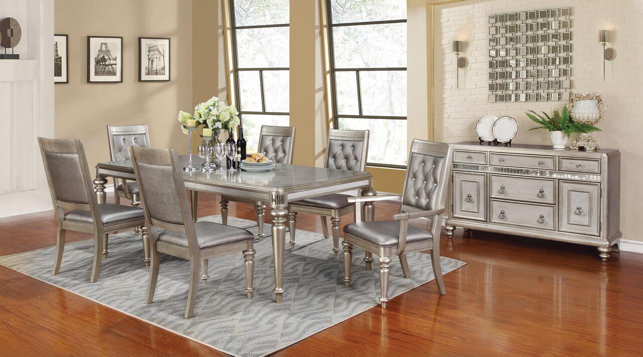 coaster danette rectangular dining table set with leaf coast