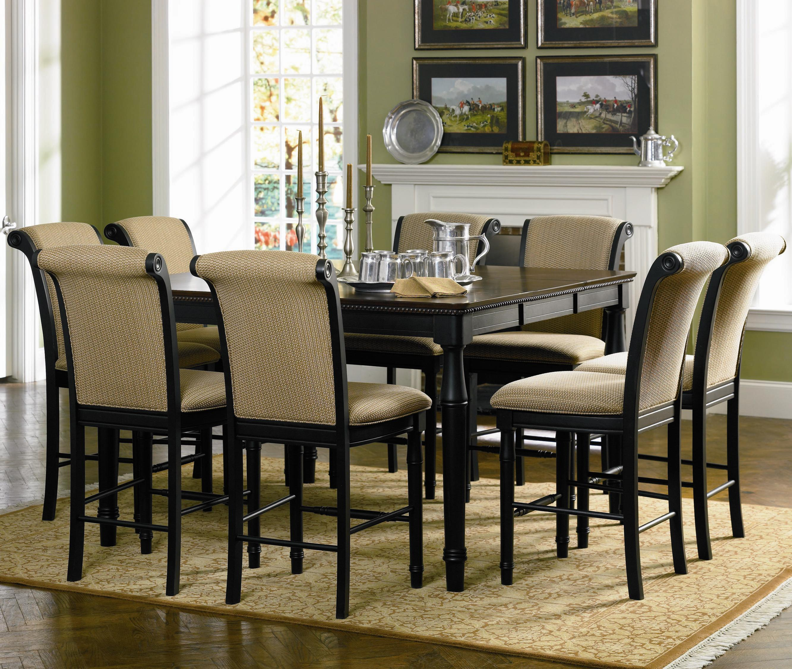 coaster cabrillo counter height dining table with leaf coaster fine furniture - Height Of Dining Room Table