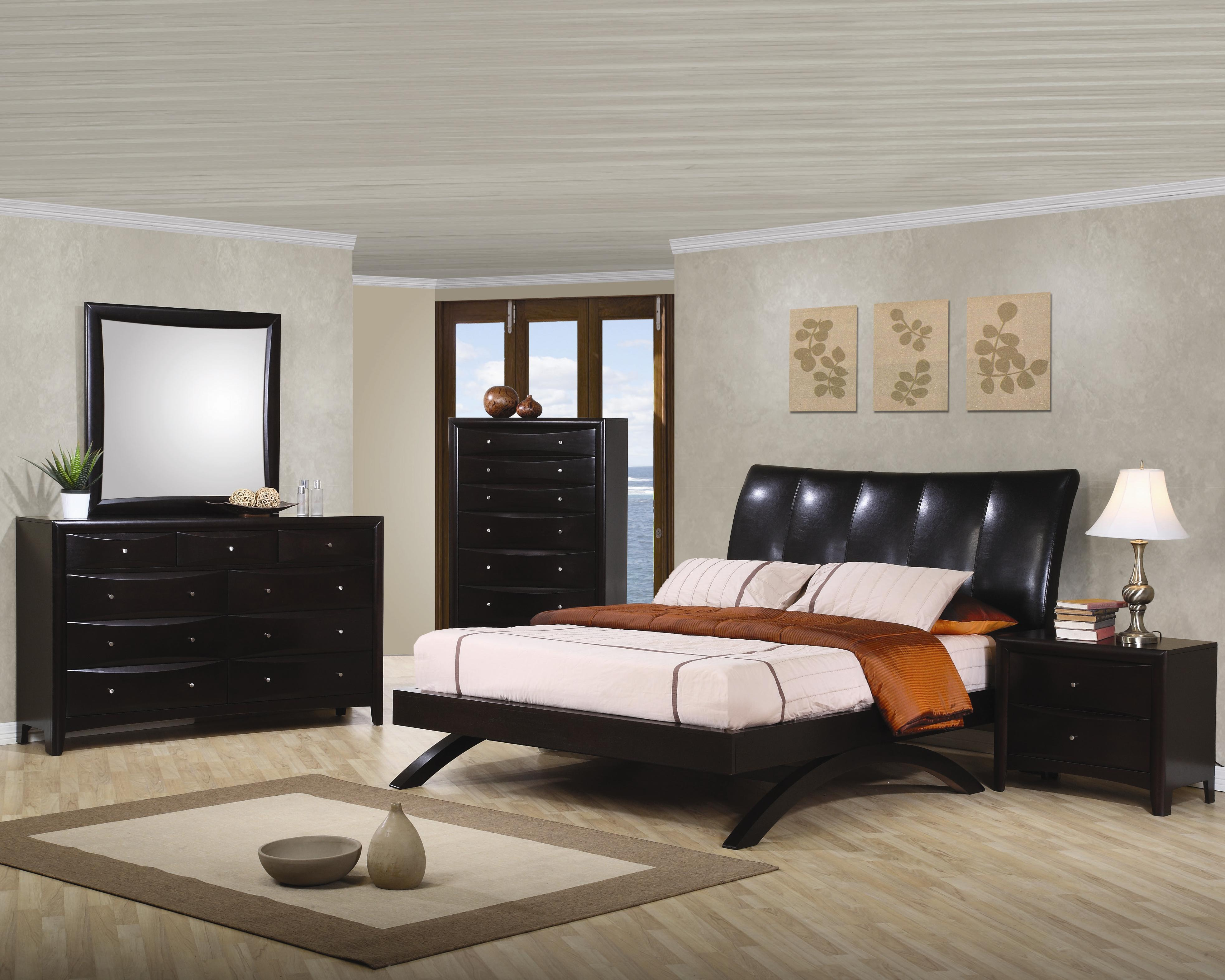 Coaster Phoenix Queen Contemporary Upholstered Bed Fine Furniture