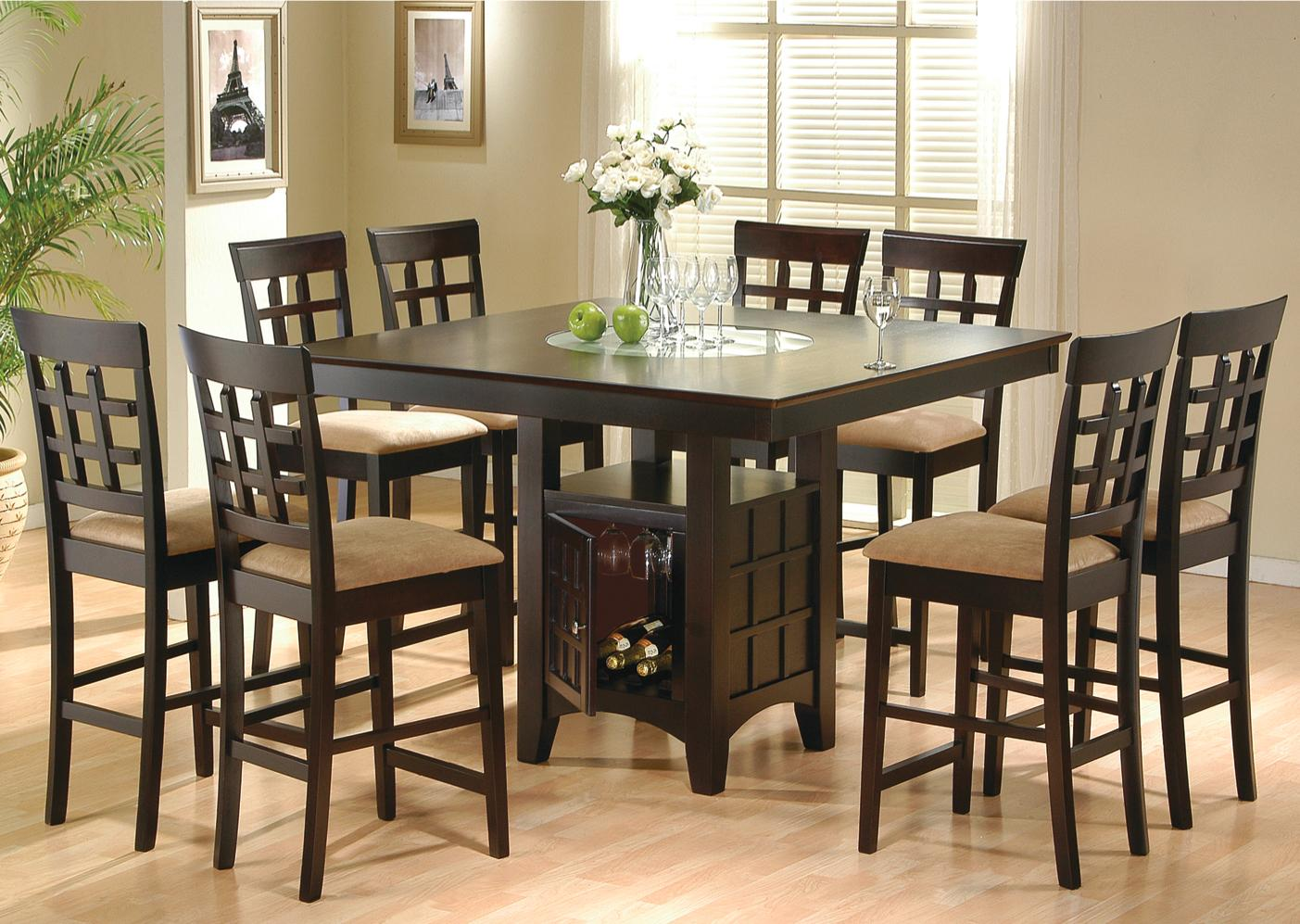 Coaster Mix U0026 Match Counter Height Dining Table With Storage Pedestal Base    Coaster Fine Furniture