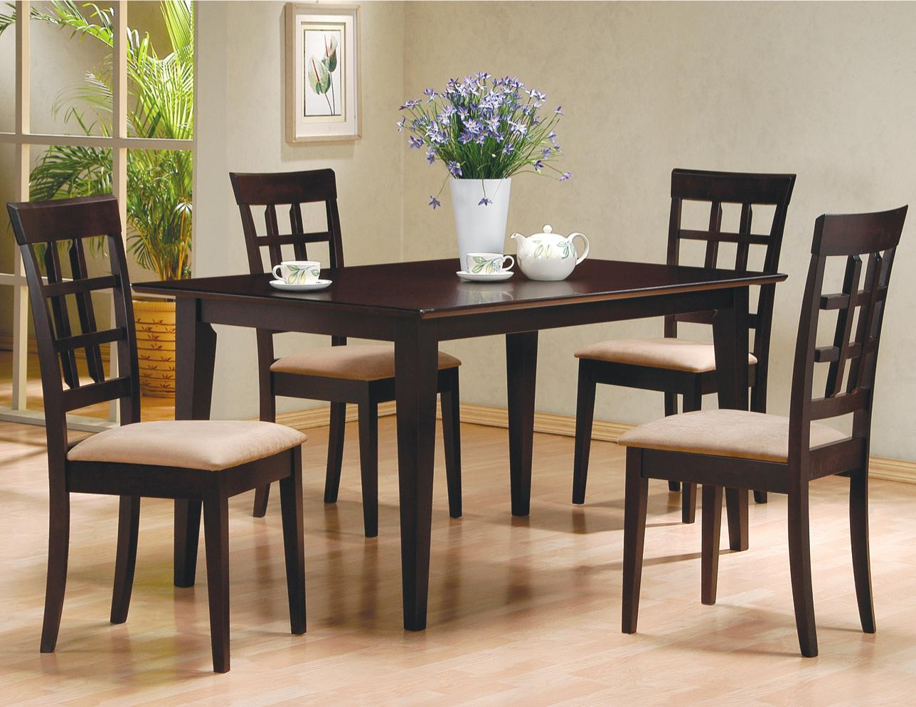 4 person kitchen table Coaster Mix Match Rectangular Casual Dining Leg Table Coaster Fine Furniture