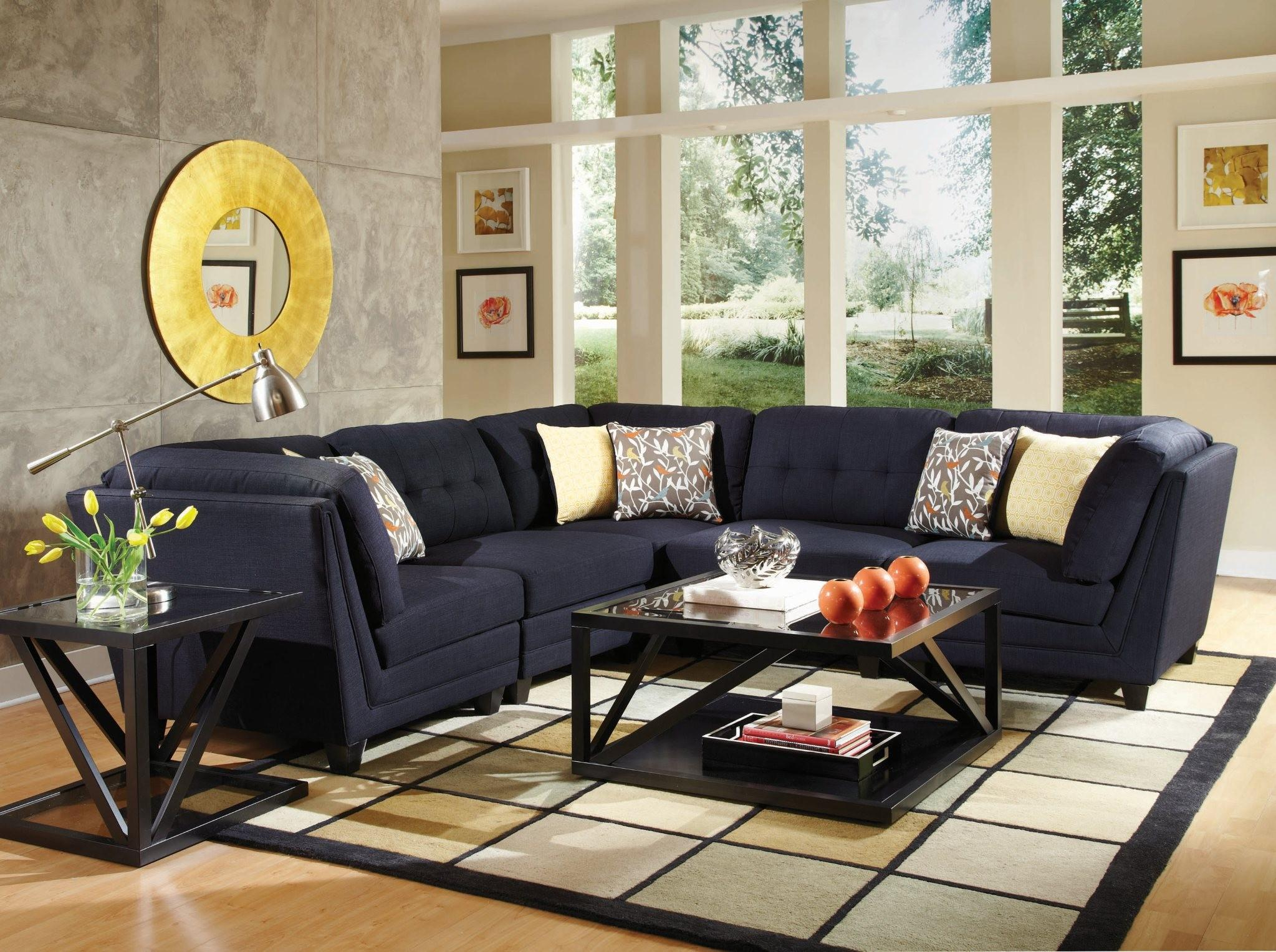 Coaster Keaton Transitional Five Piece Sectional Sofa with Tufting - Coaster Fine Furniture : coaster sectional sofa - Sectionals, Sofas & Couches