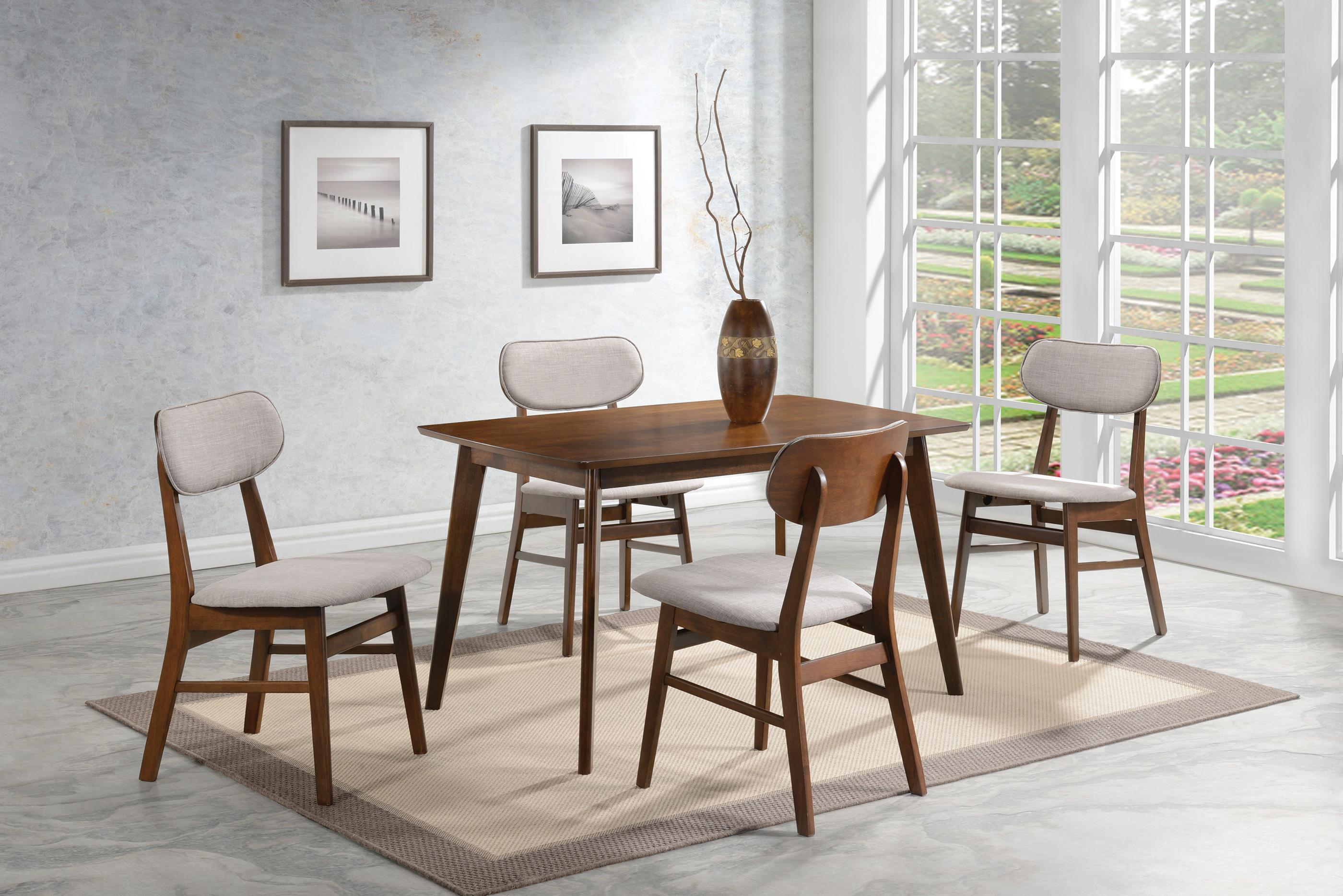 & Coaster Kersey Dining Table with Angled Legs - Coaster Fine Furniture