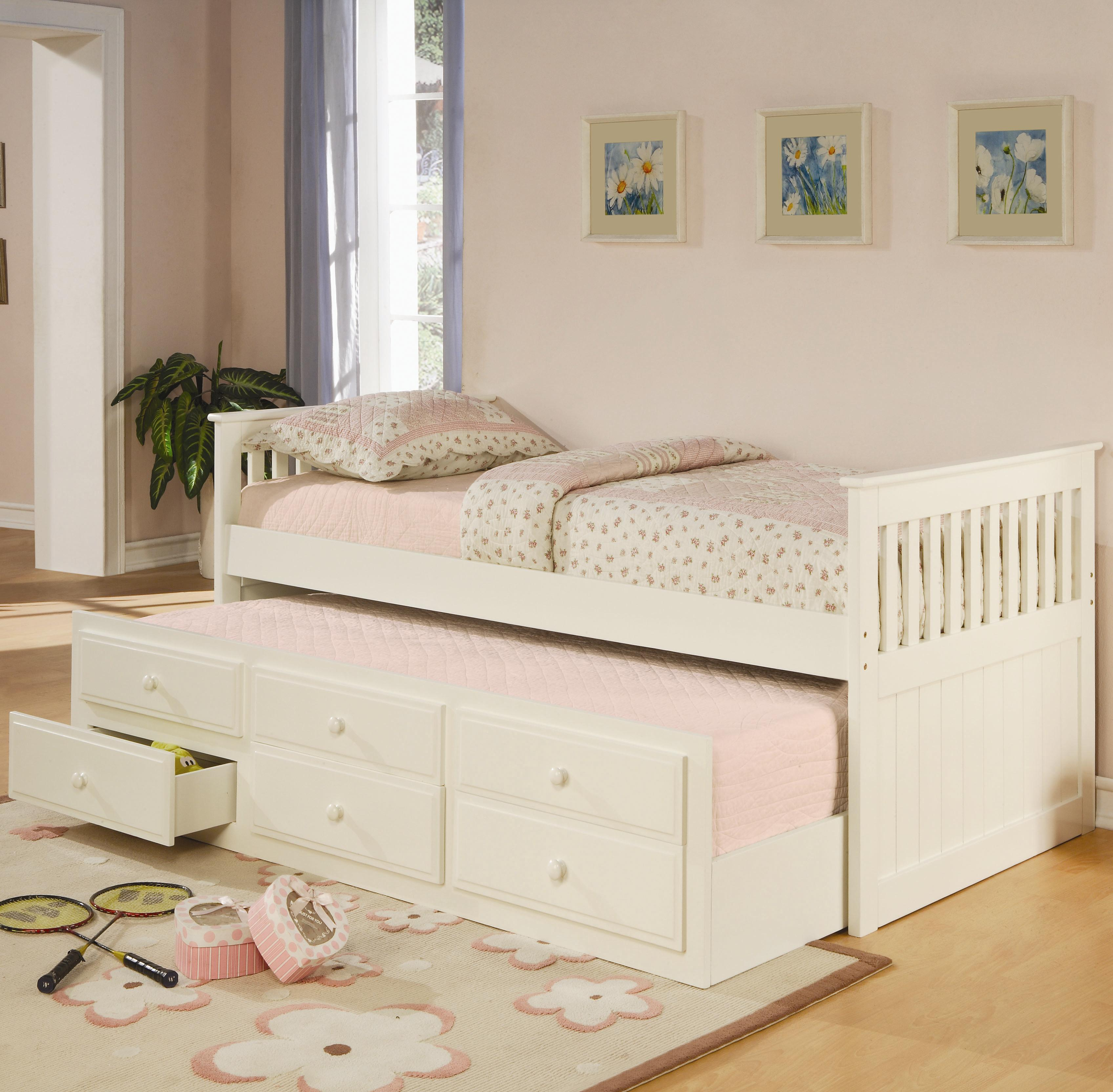 coaster la salle twin captains bed with trundle and storage drawers coaster fine furniture - Coaster Bed Frame