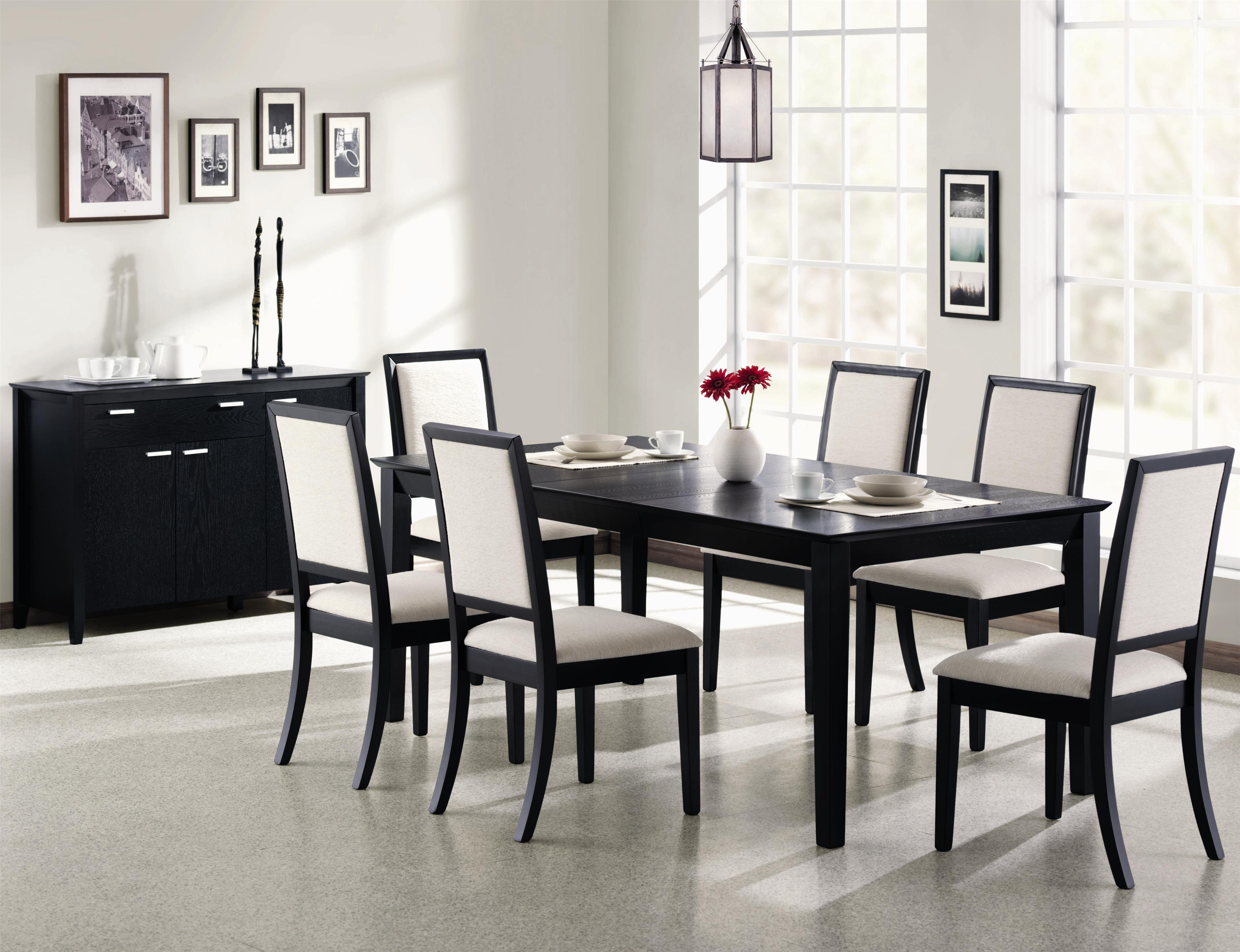 Modern dining room black and white info home and furniture - Black And Wood Kitchen Table Chairs Kitchen Design Ideas And Simple Wood Dining Room Chairs