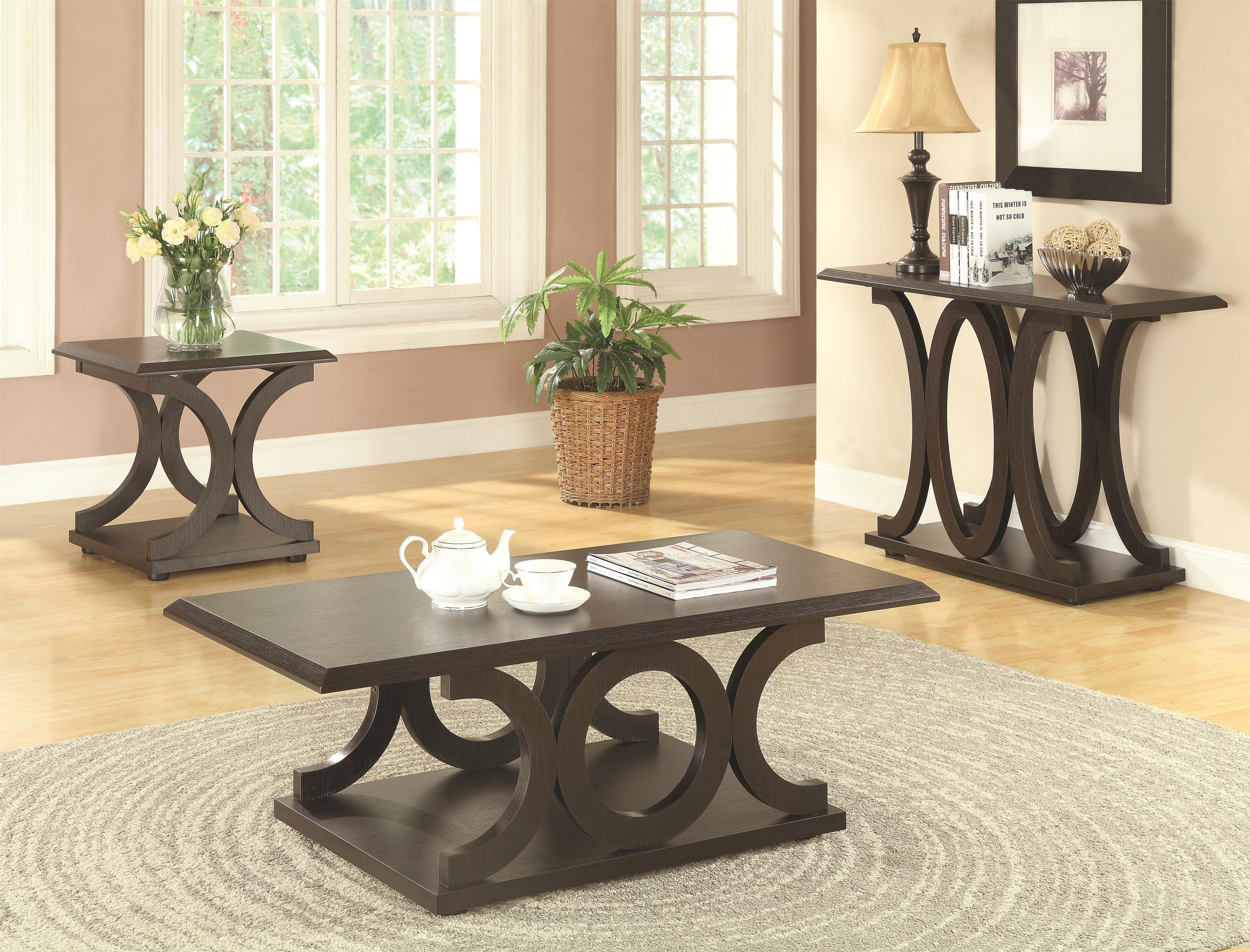 Coaster 703140 C Shaped Coffee Table