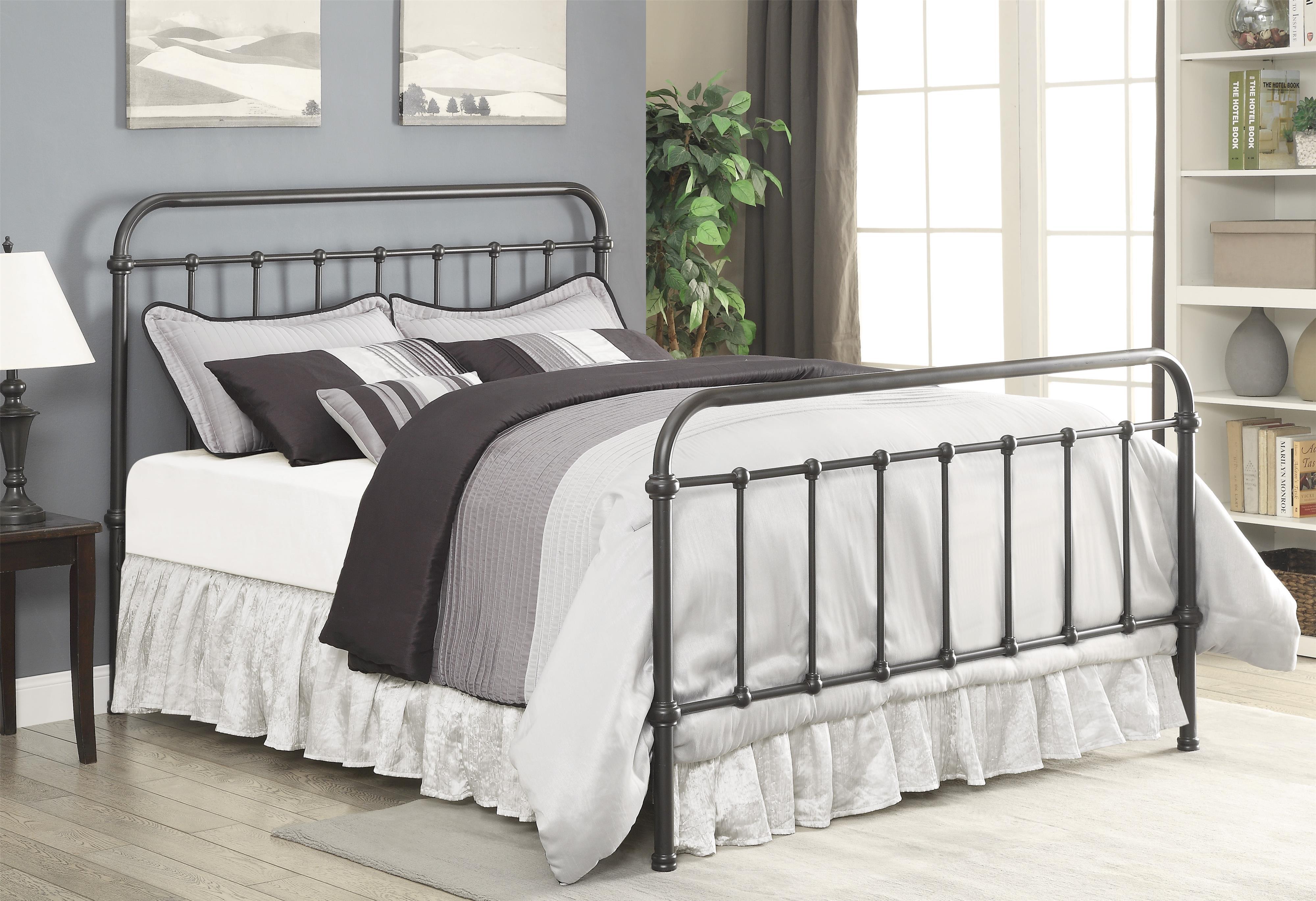 Coaster Livingston Transitional King Metal Bed   Coaster Fine Furniture