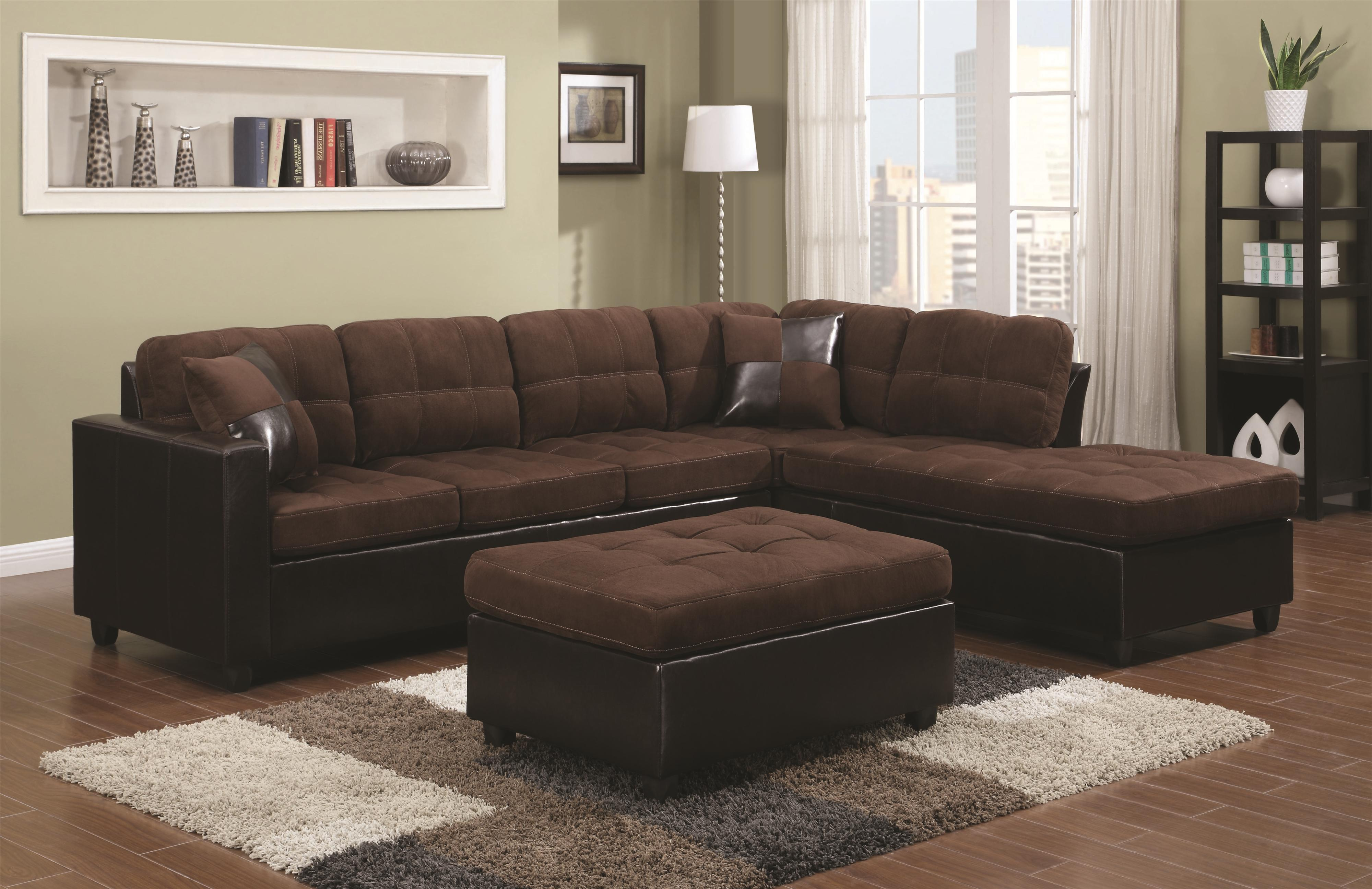 Coaster Mallory Reversible Sectional with Casual and Contemporary