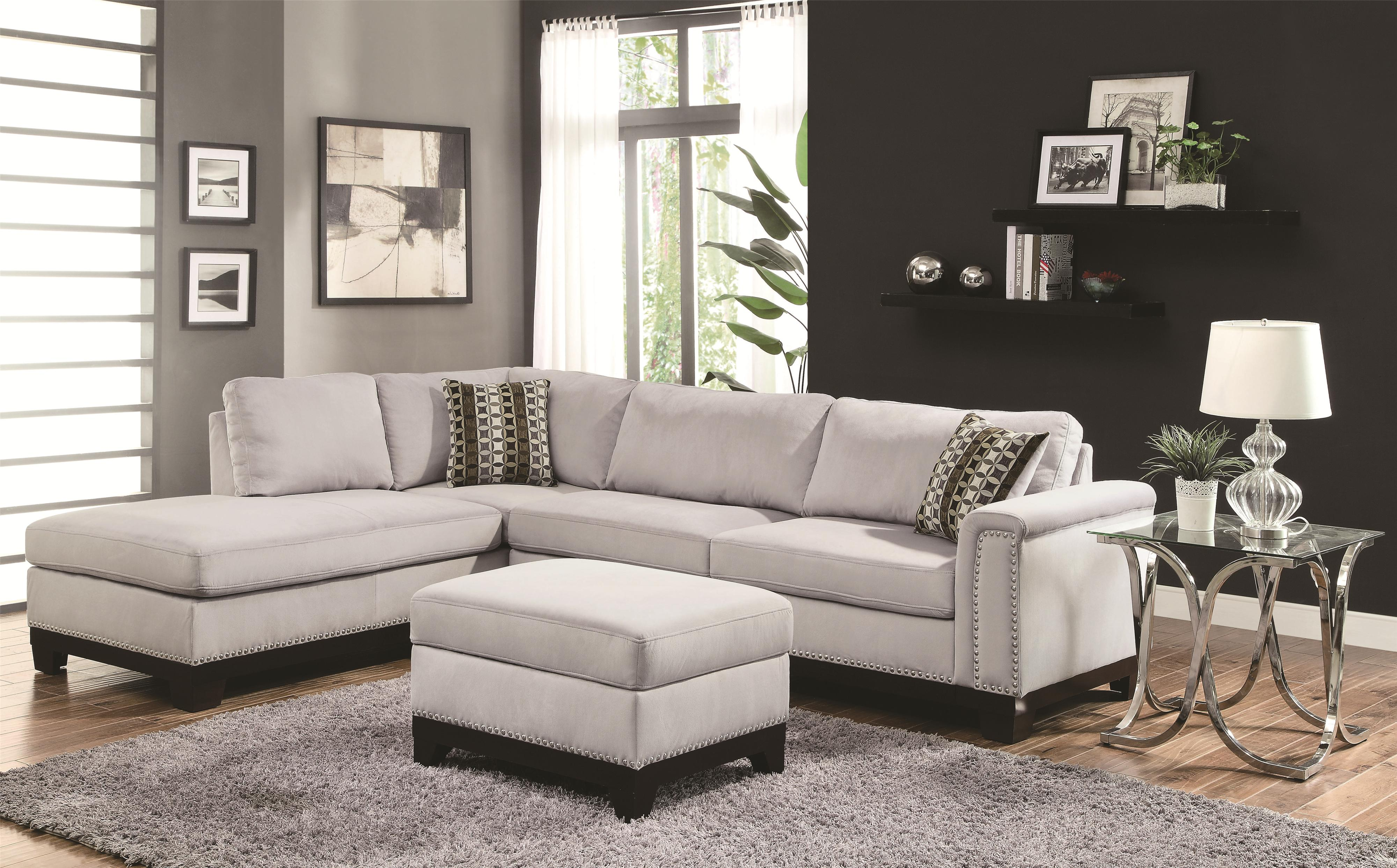 Upholstered Living Room Chair Coaster Mason Track Arm Reversible Sofa Chaise Sectional Coaster