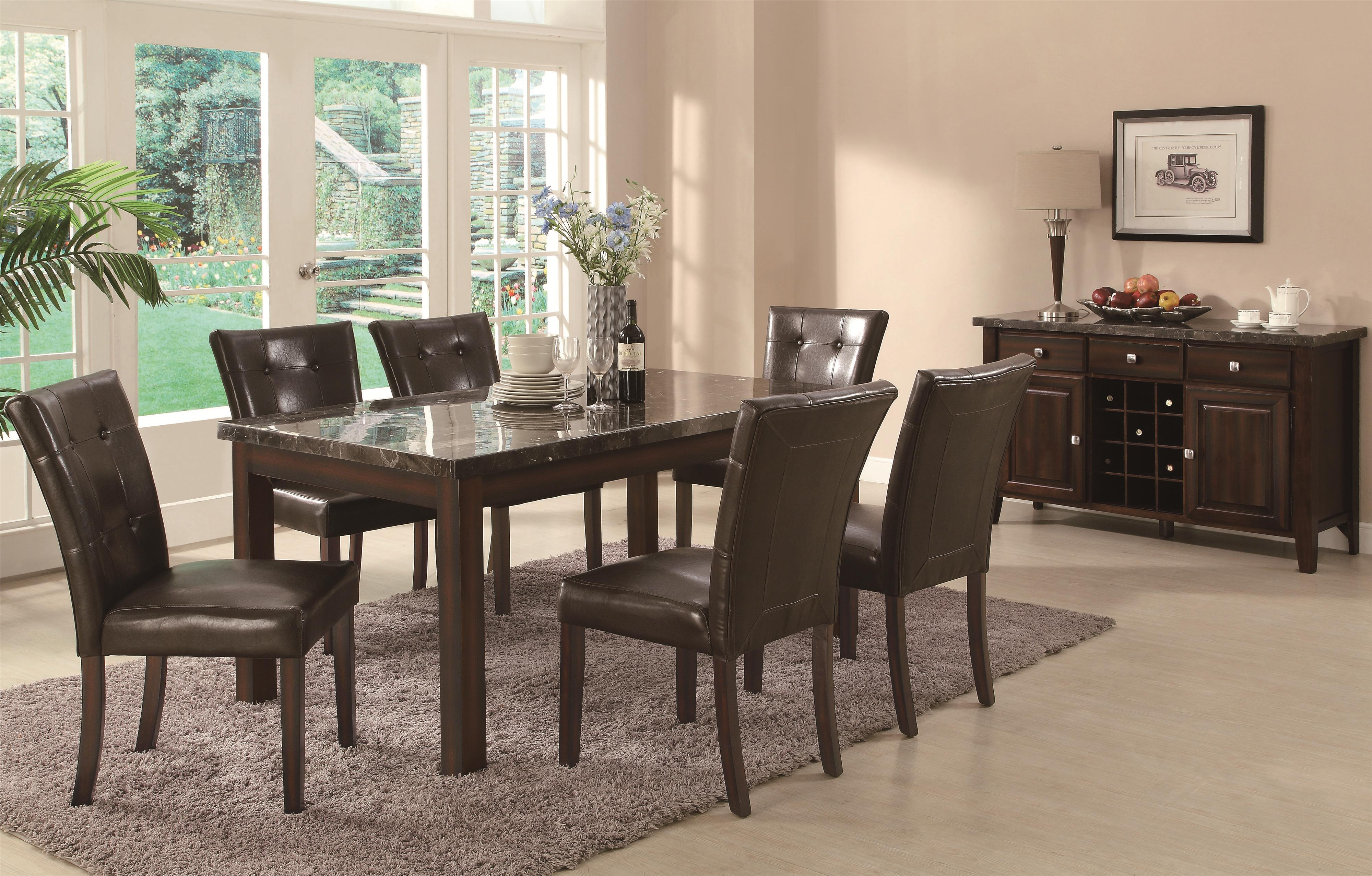 coaster milton counter height table w marble top coaster fine