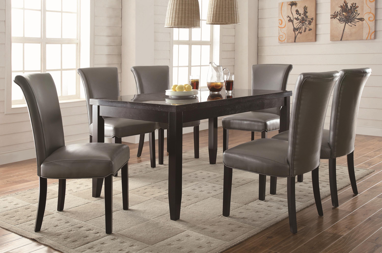 7 piece dining table set wood dining coaster newbridge piece dining table chair set fine furniture