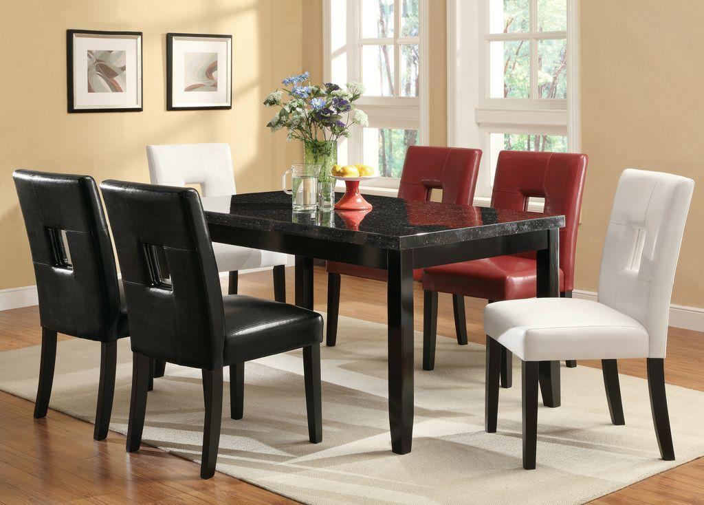 Coaster Newbridge Dining Leg Table W/ Faux Marble Top   Coaster Fine  Furniture