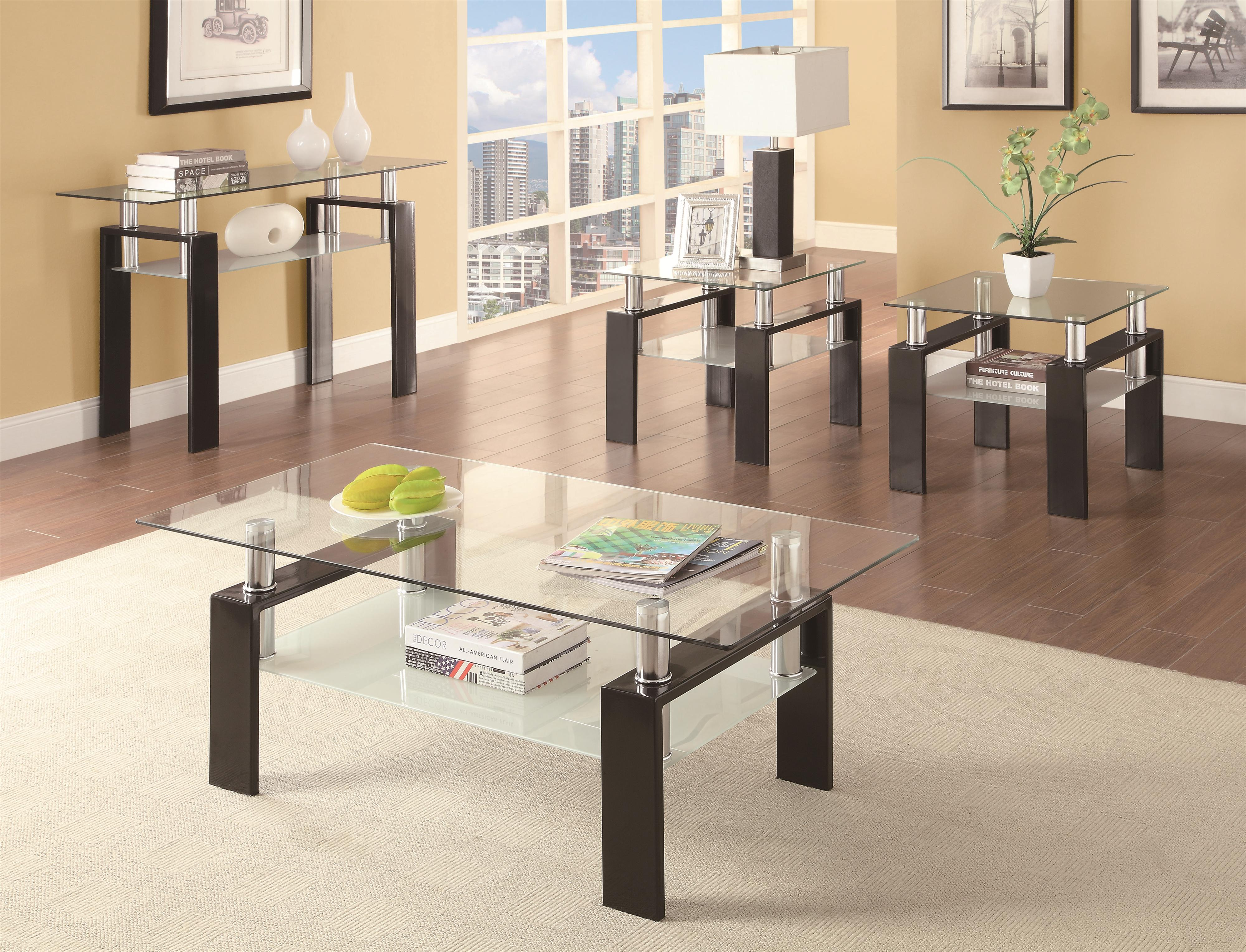Coaster Occasional Group Tempered Glass Coffee Table