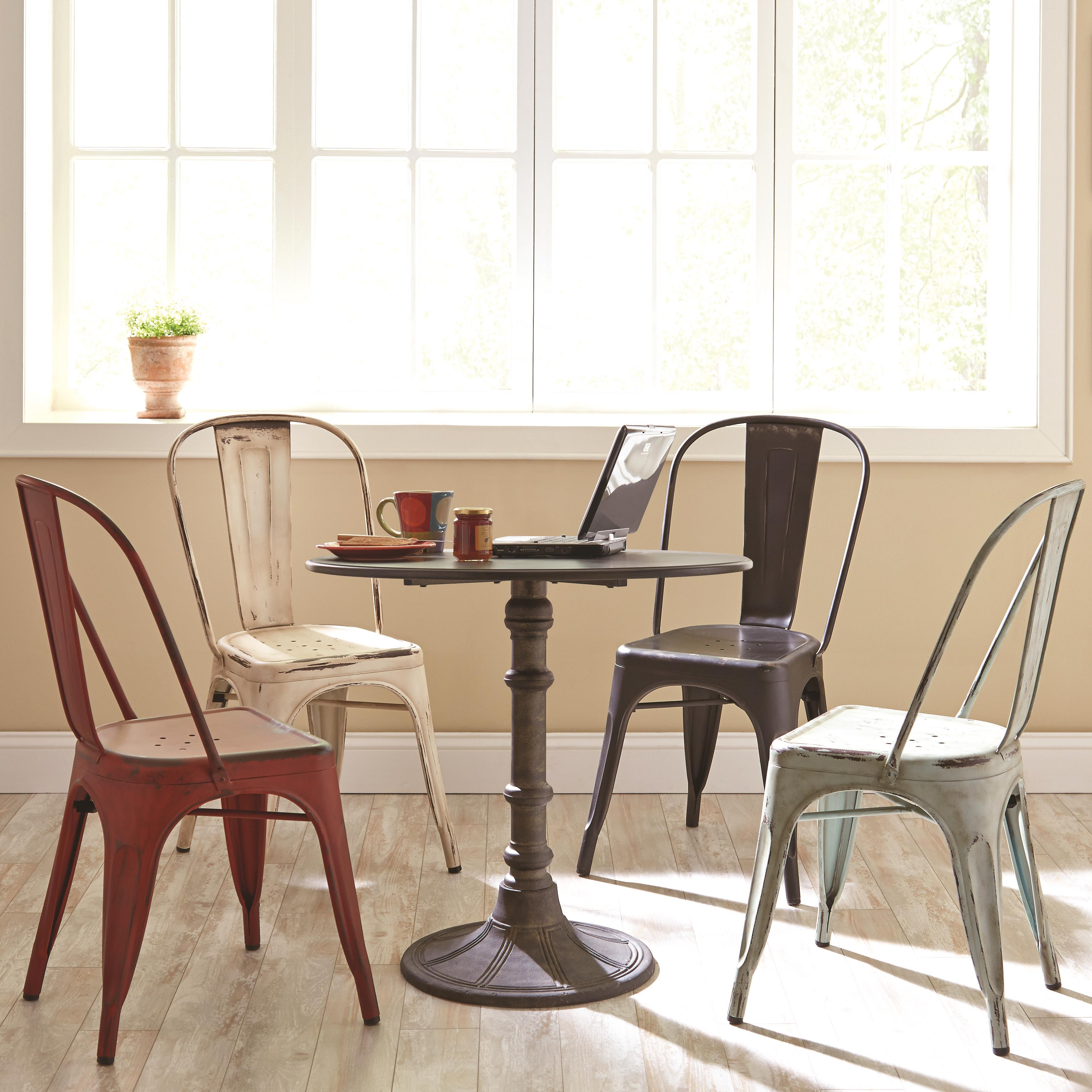 Coaster Oswego Round Dining Table Set With Side Chairs   Coaster Fine  Furniture