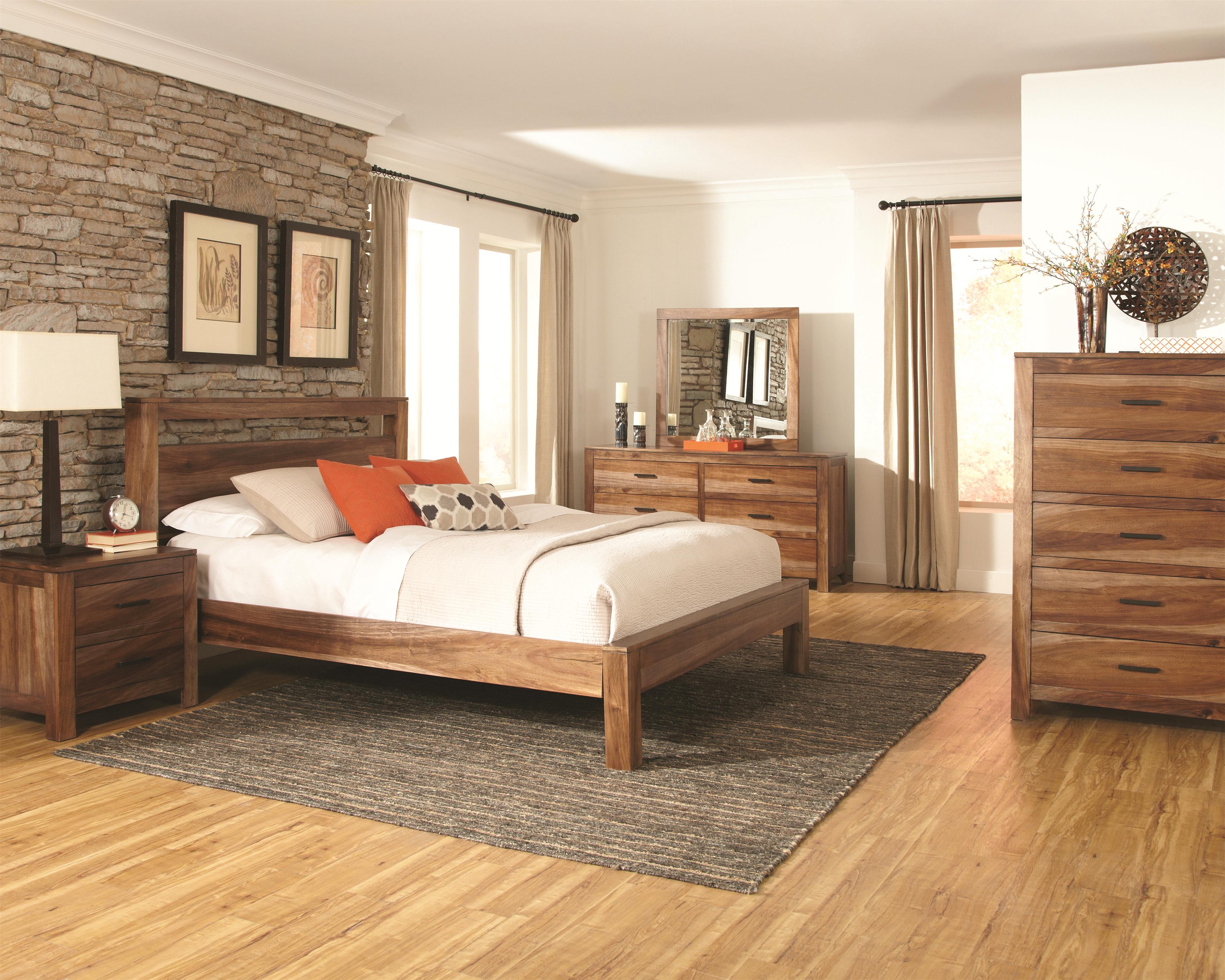 Rustic wood platform bed - Rustic Wood Platform Bed