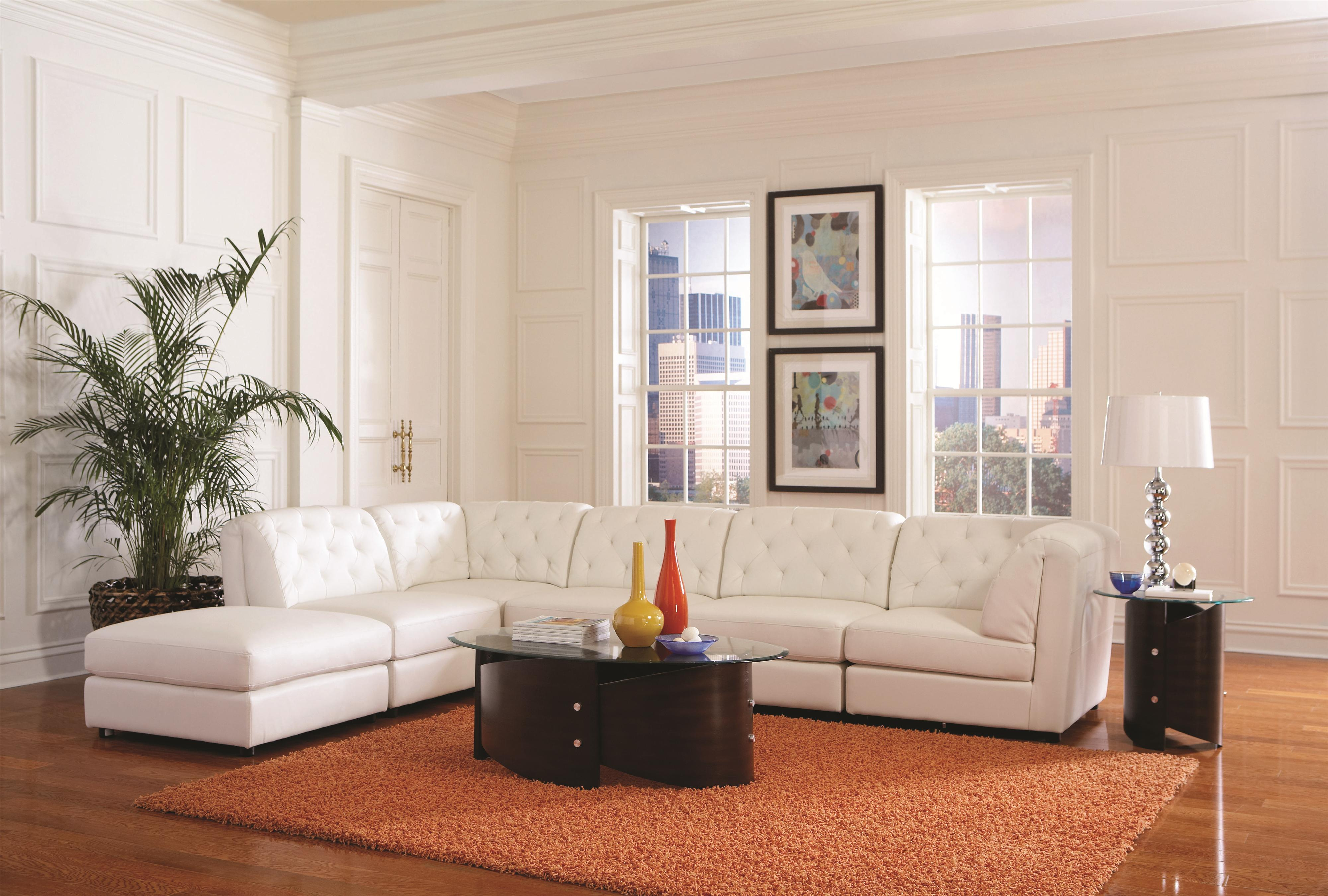 Coaster Quinn Transitional Modular Sectional Sofa   Coaster Fine Furniture
