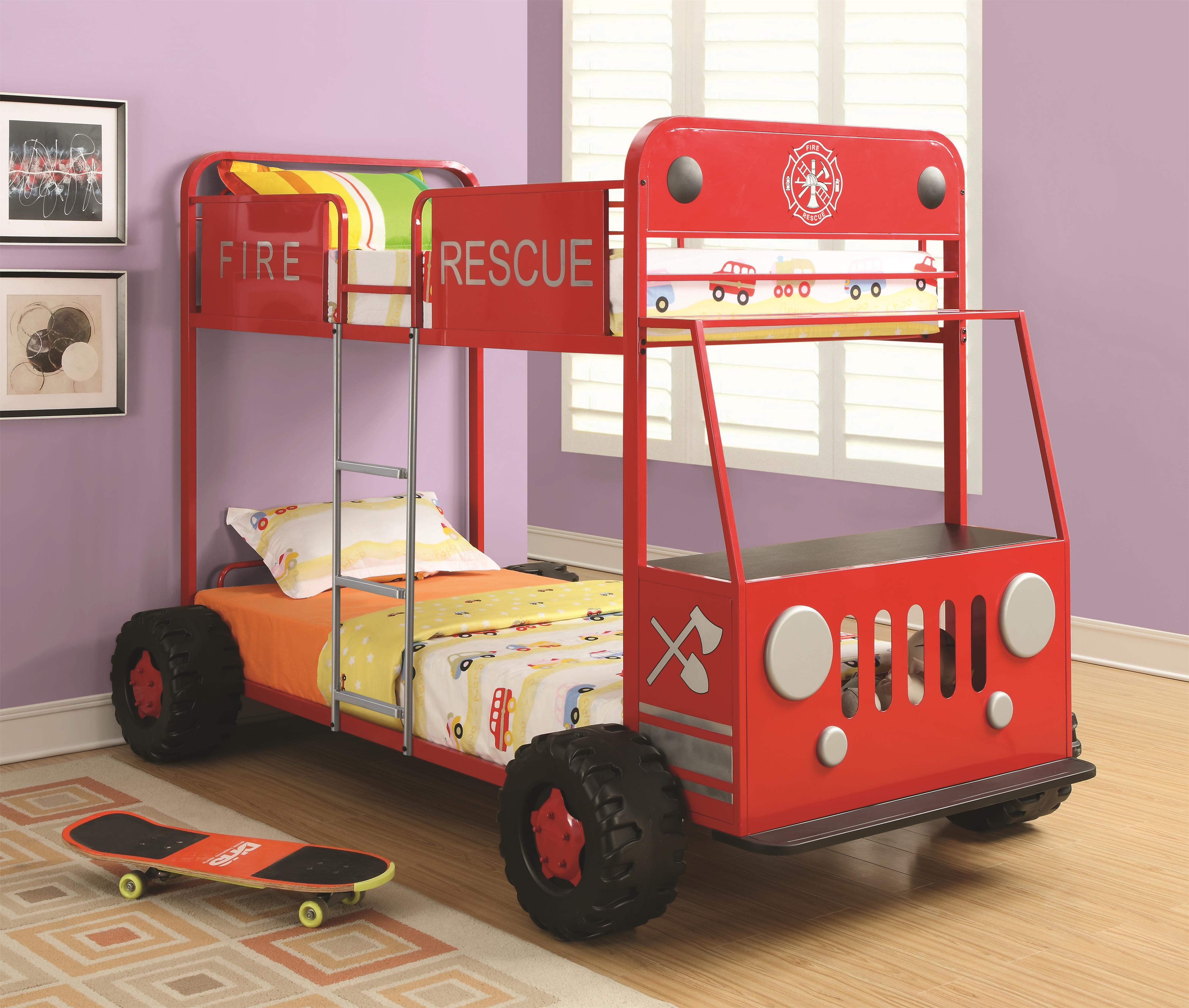 Coaster Novelty Beds Race Car Twin Bed - Coaster Fine Furniture