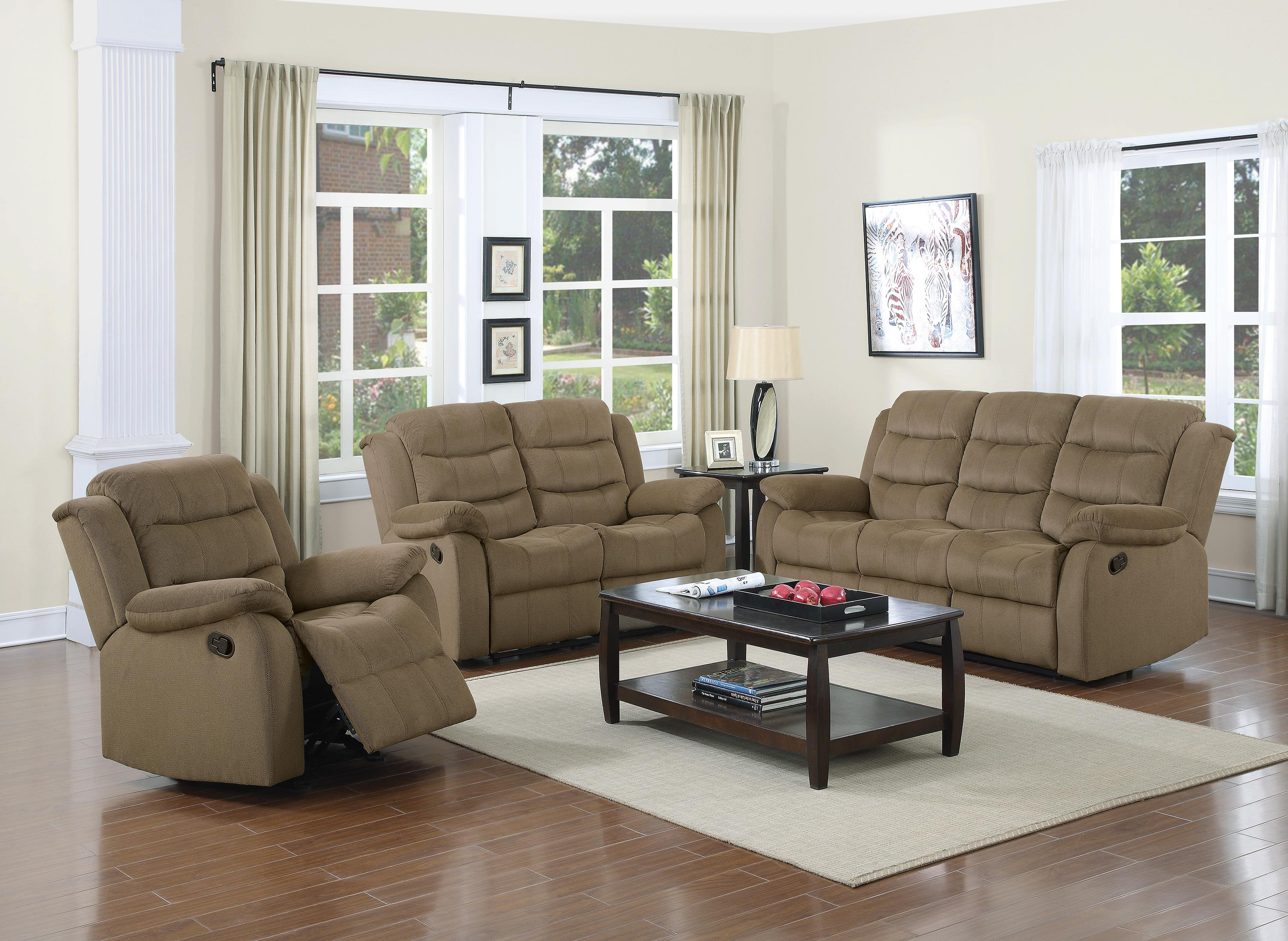 Two Loveseat Living Room Coaster Rodman Casual Motion Sofa With Pillow Arms Coaster Fine