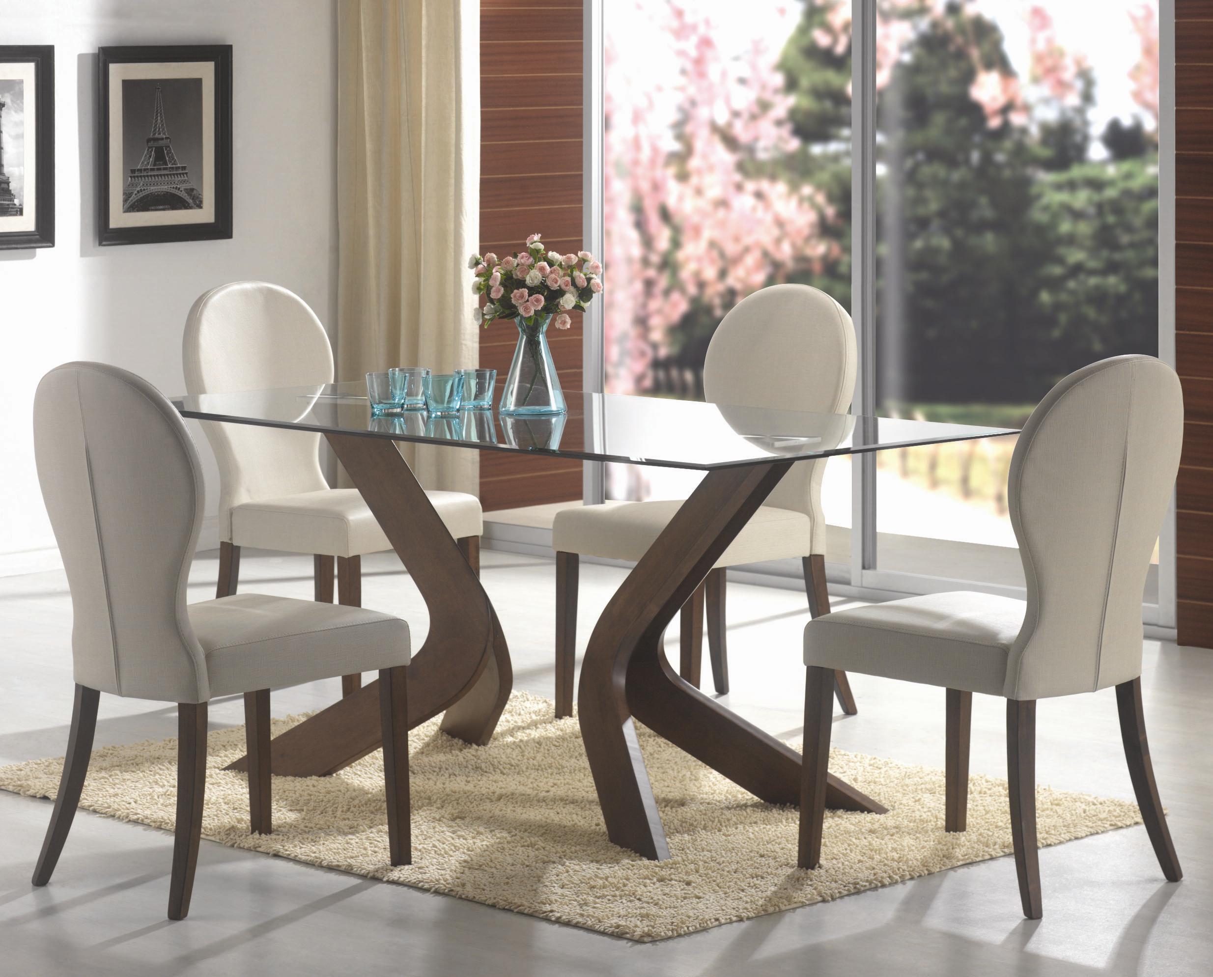 Delightful Coaster San Vicente Glass Top Rectangular Dining Table   Coaster Fine  Furniture
