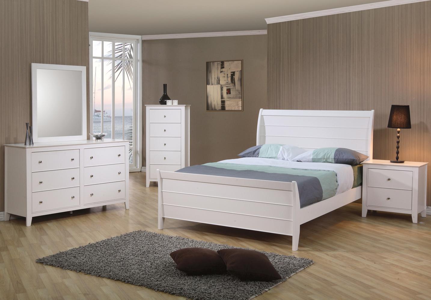 coaster selena 6 drawer dresser & landscape mirror - coaster fine