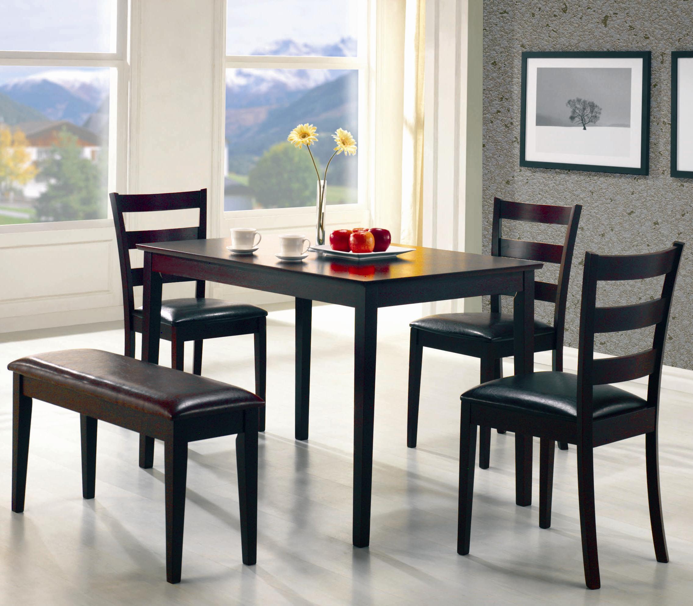 Coaster Taraval 5 Piece Dining Set with Bench - Coaster Fine Furniture