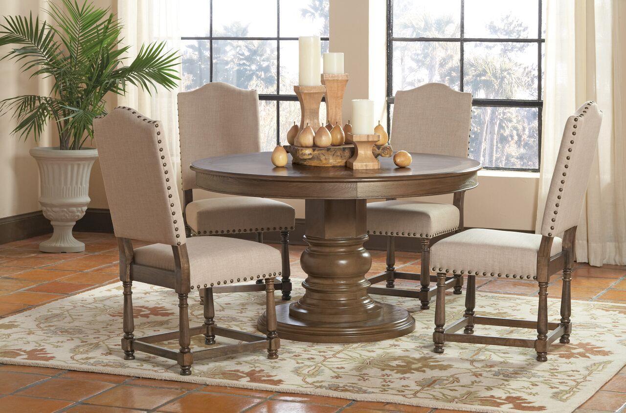Coaster Willem 5 Piece Round Single Pedestal Table Set   Coaster Fine  Furniture