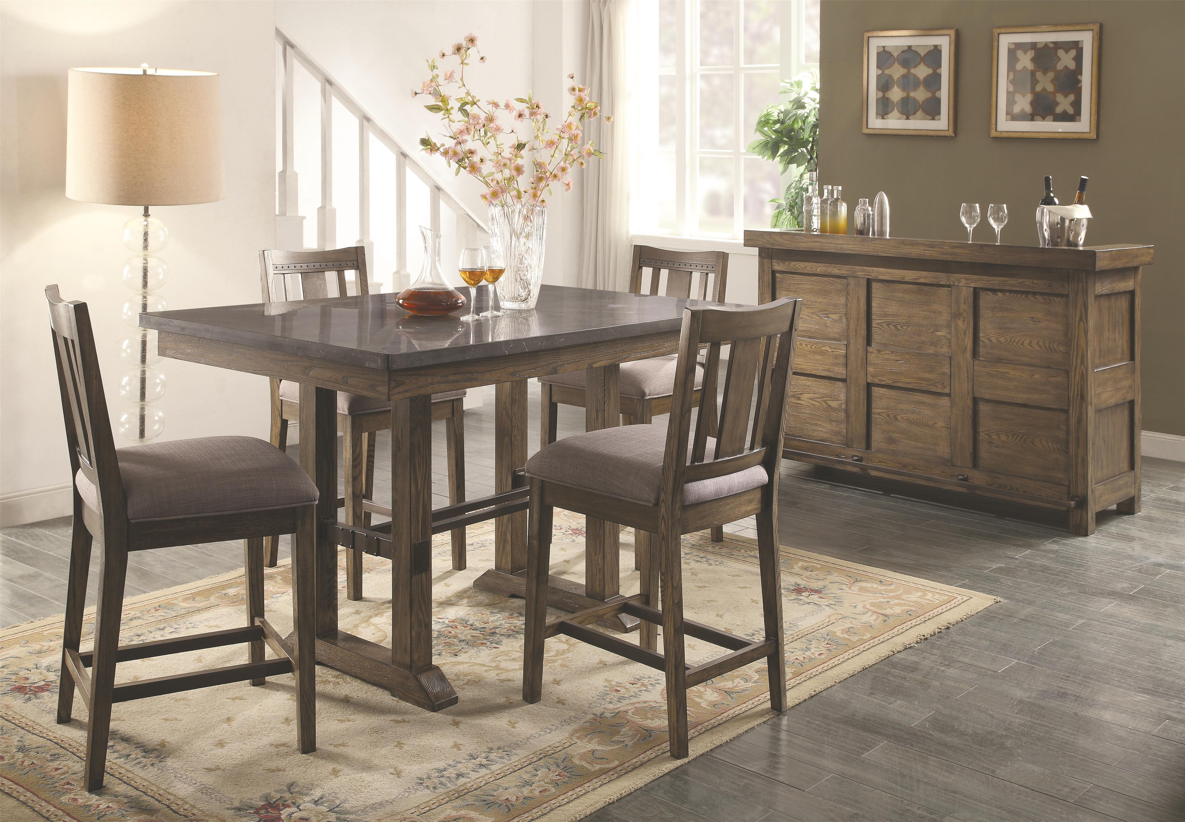 Coaster Willowbrook Rustic Industrial Round Dining Table with ...