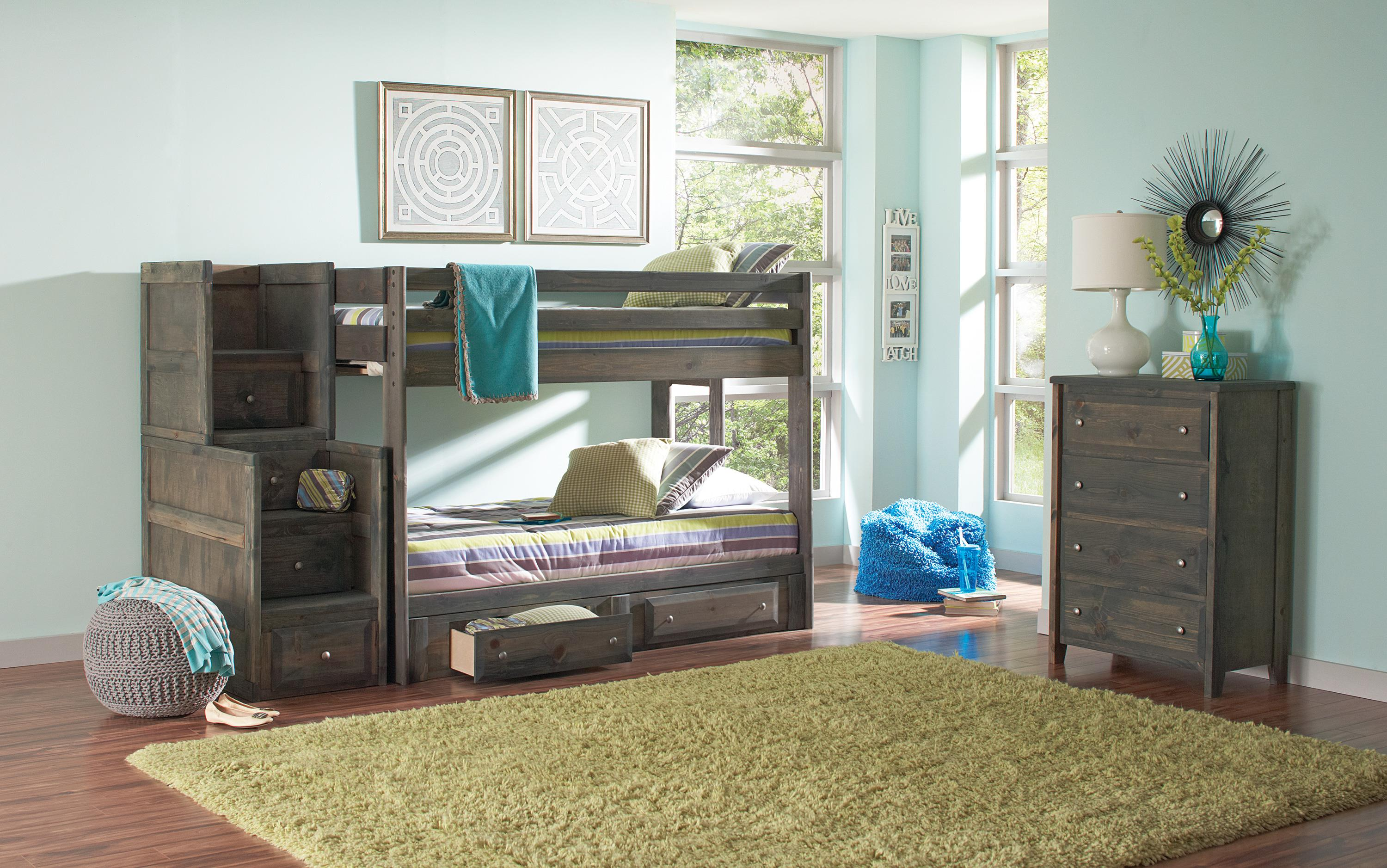 coaster wrangle hill full over full bunk bed with pull out trundle coaster fine furniture