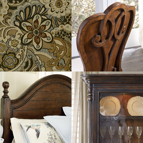 traditional style furniture collage