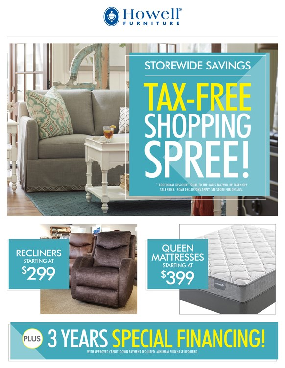 Current Promotions At Howell Furniture: