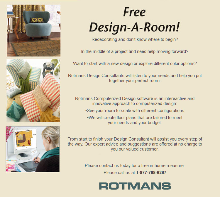 Rotmans design a room worcester boston ma for Free room design help