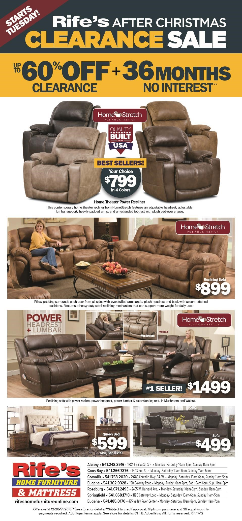 Rifeu0027s Home Furniture   Valley River Center   Eugene, Oregon 97401 Furniture  Store