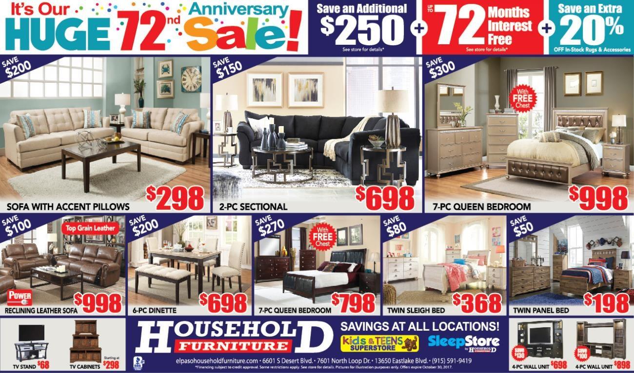 Household Furniture Westside El Paso Texas 79932 Furniture Store