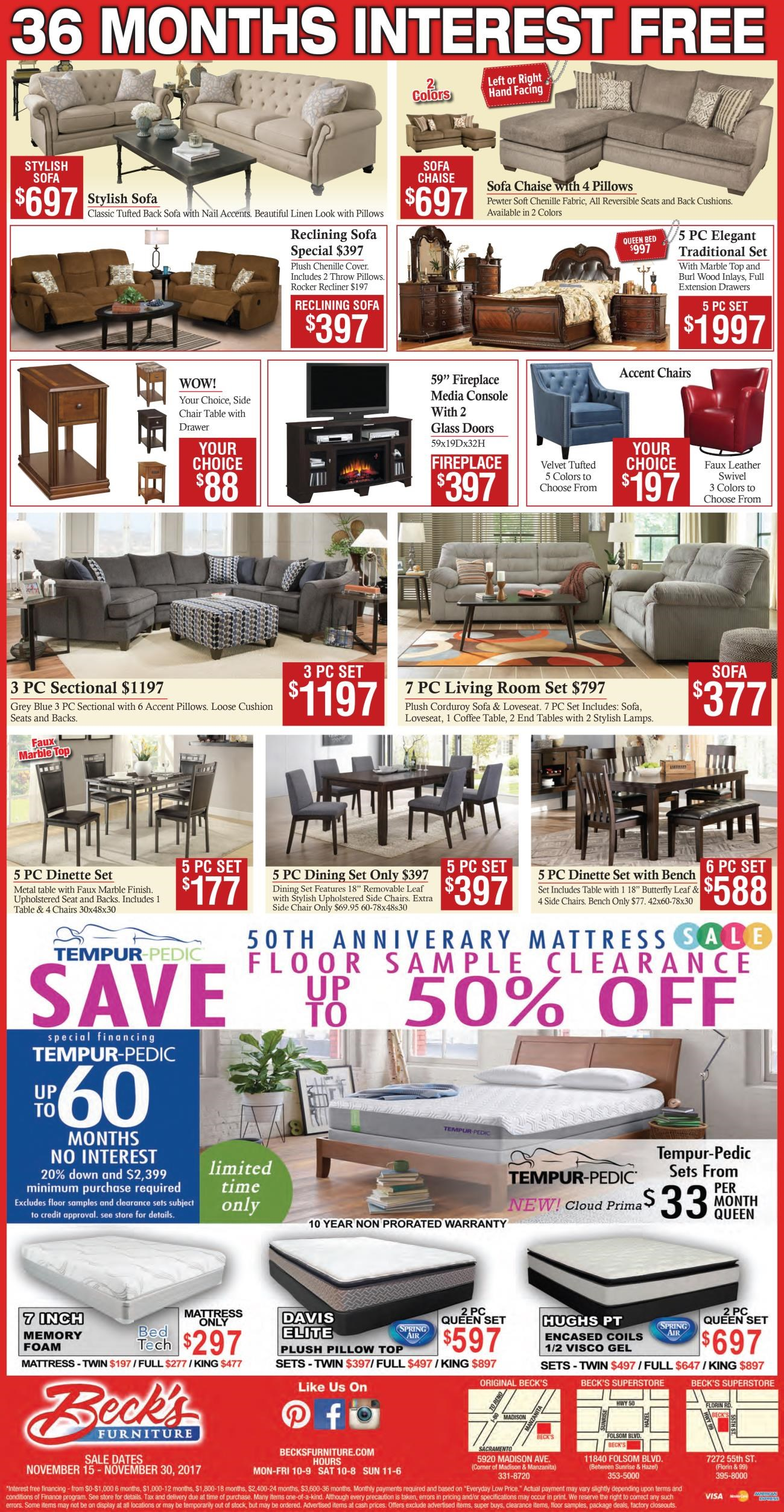 Current Promotions At Becku0027s Furniture: