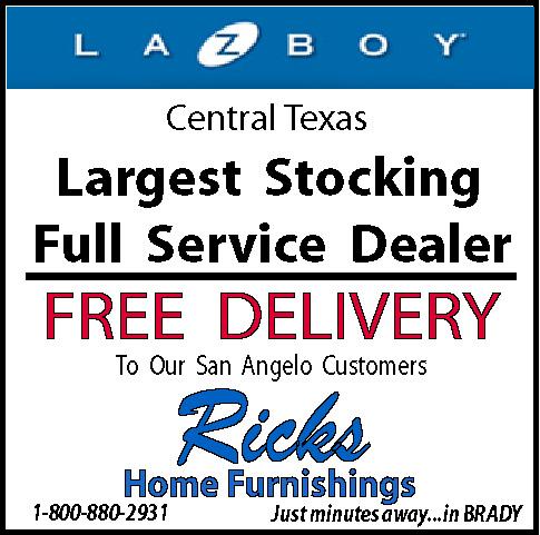 Ricks home furnishings brady san angelo brownwood for Furniture and mattress outlet mason city iowa