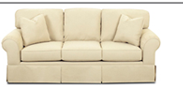 Klaussner Woodwin Casual Skirted Sofa