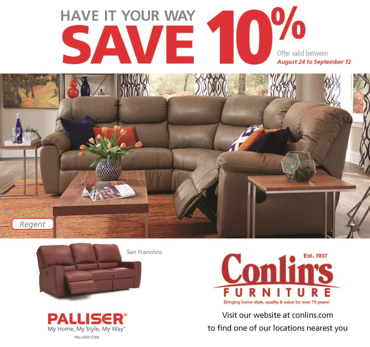 Current Promotions At Conlinu0027s Furniture:
