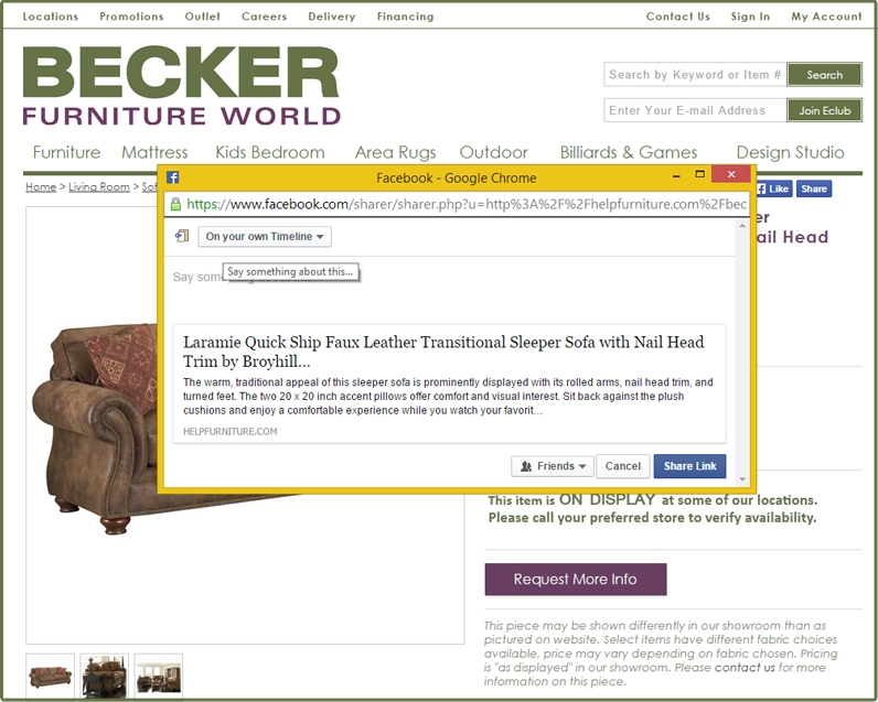 After Posting The Link To Your Timeline, Go To Your Facebook Page And Tag Becker  Furniture World In The Image (Please Note: You Will Need To U0027Likeu0027 The ...