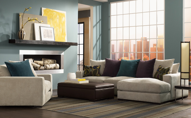 High Quality Photo Of A Beautiful Living Room Setting With A Comfy, Plush Sofa Part 22