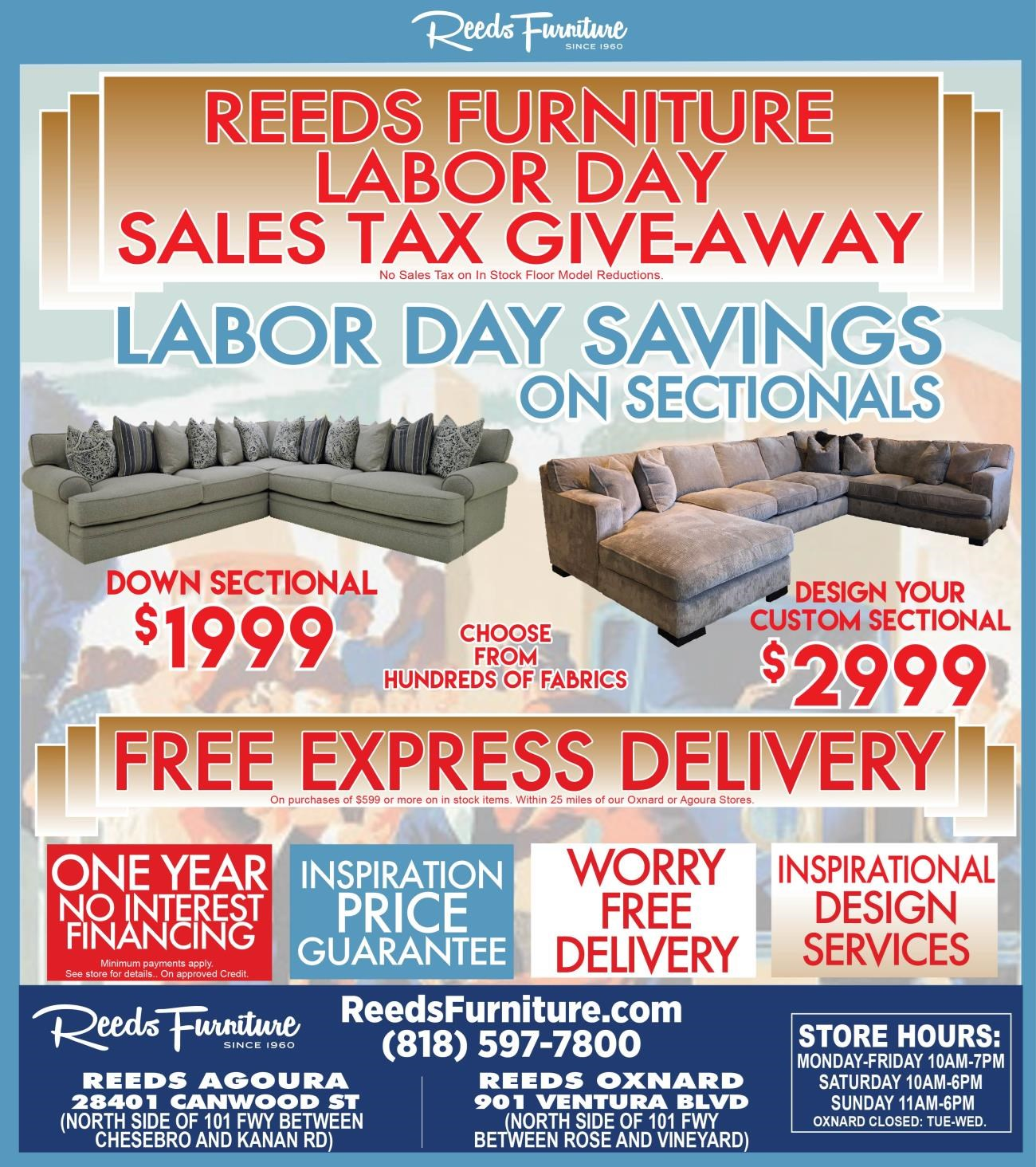 Current Promotions At Reeds Furniture: