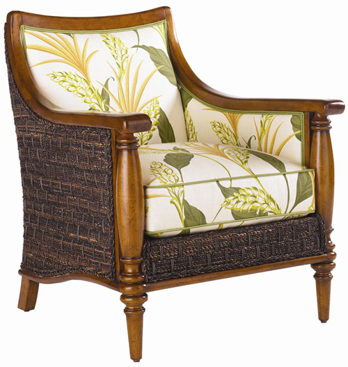 Rattan And Wood Chair